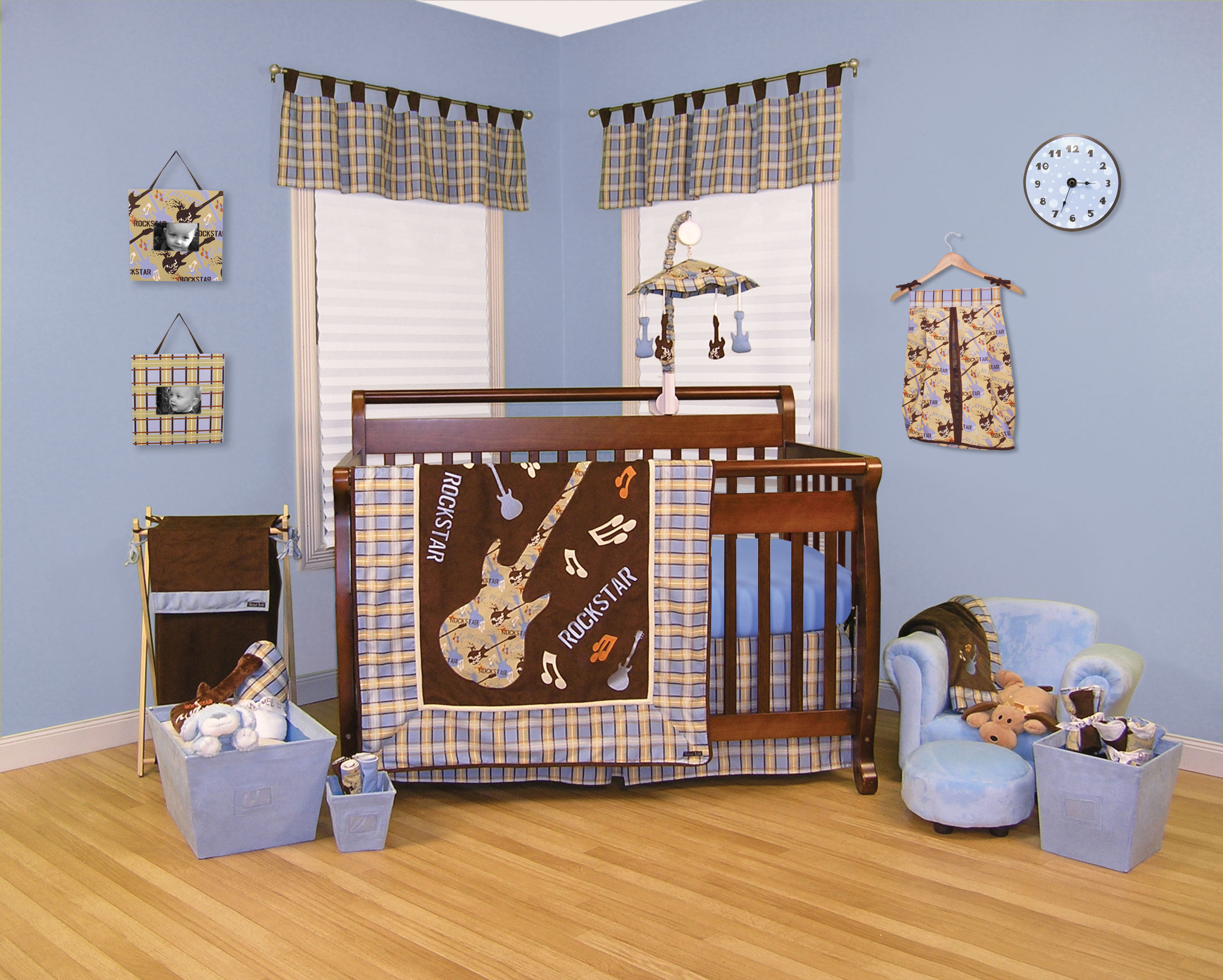 Trend Lab Rockstar 6 Piece Crib Bedding Set