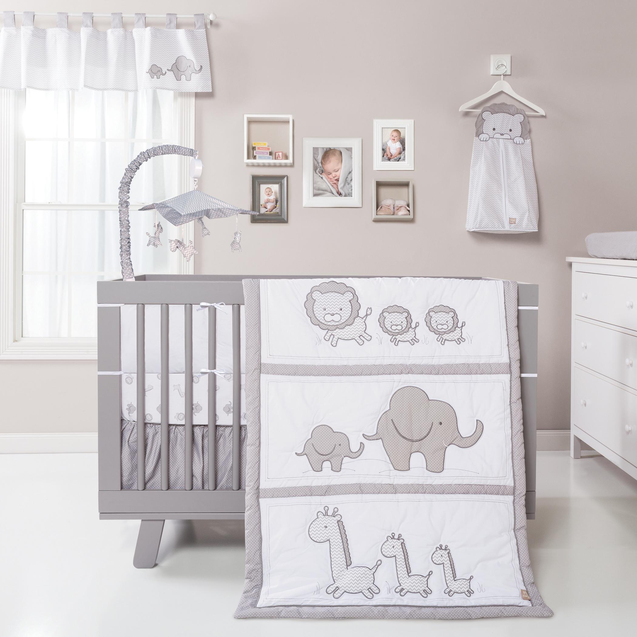 Trend Lab Safari Chevron 3 Piece Crib Bedding Set