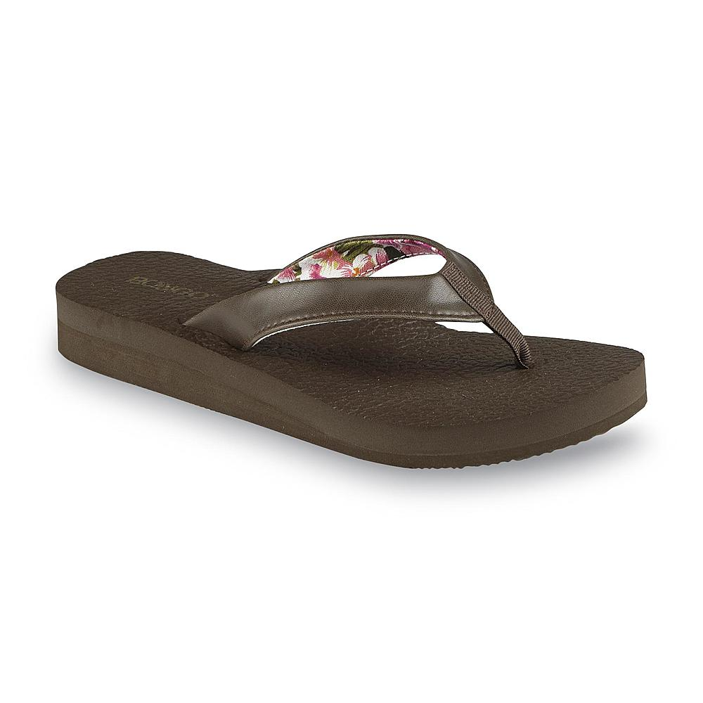 Bongo Women's Zen Brown Wedge Flip-Flop