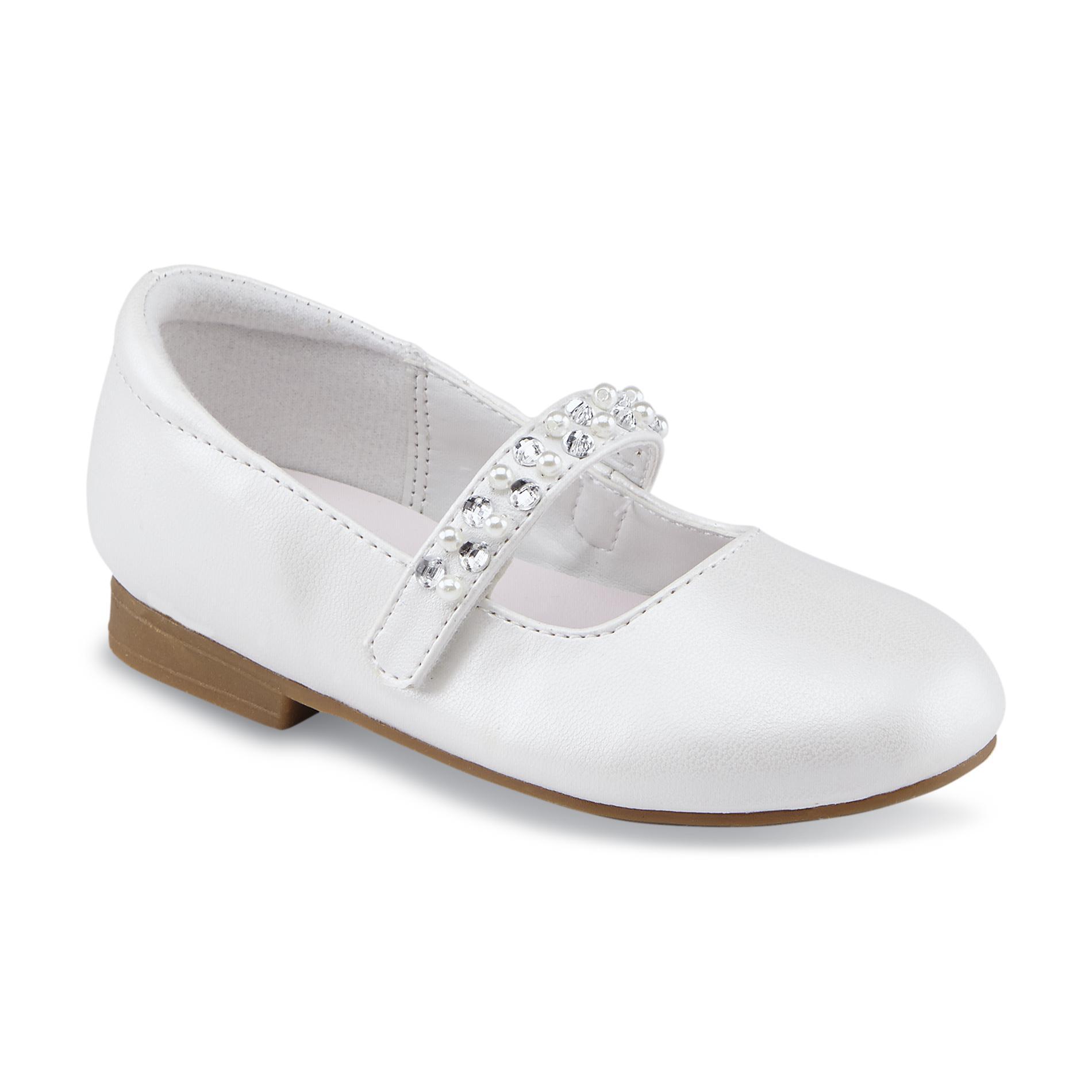 WonderKids Toddler Girl's Belinda White Mary Jane Dress Shoe