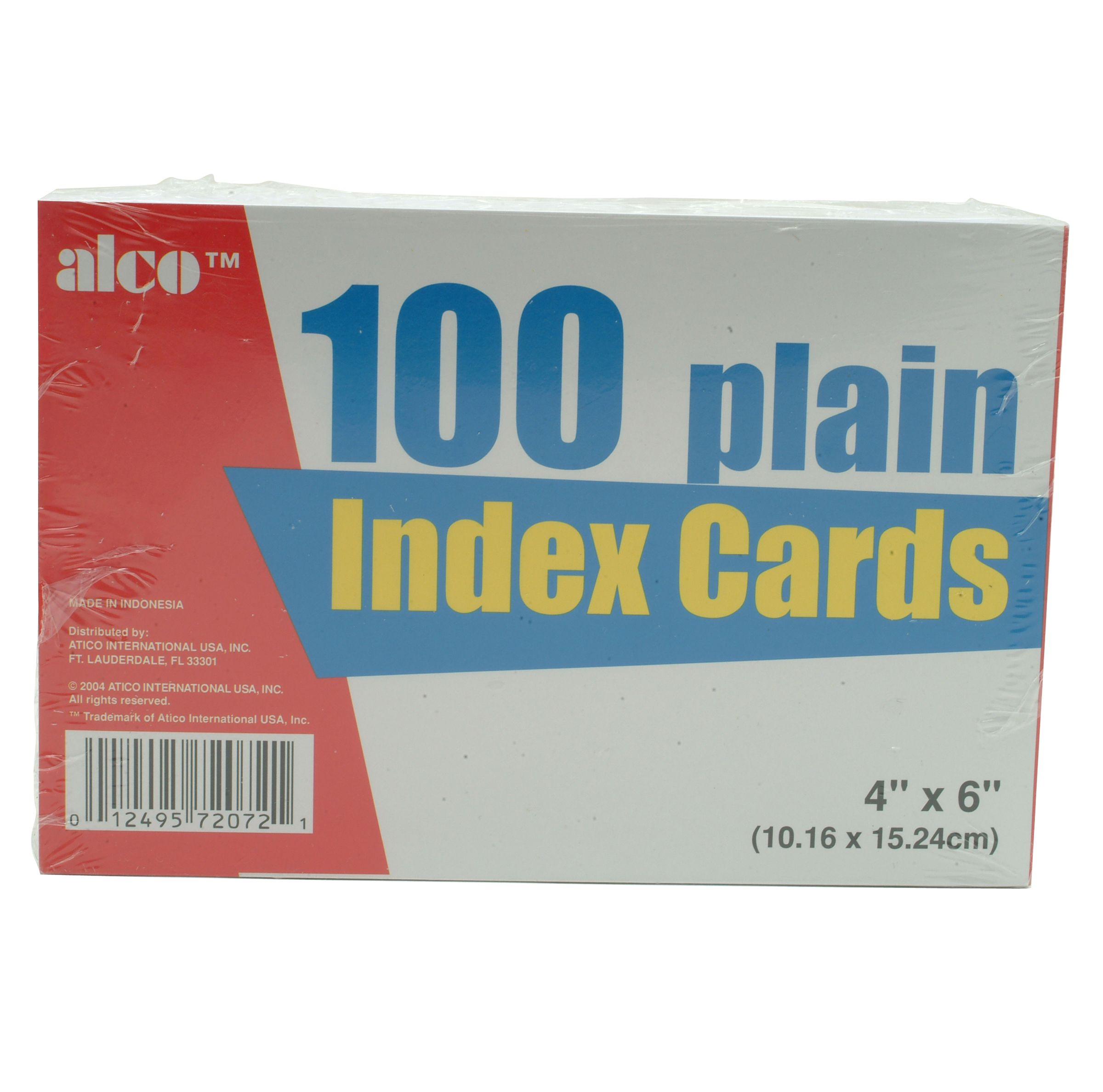"""Image of """"""""""""American Scholar Plain White Index Cards 4"""""""""""""""" x 6"""""""""""""""""""""""""""""""
