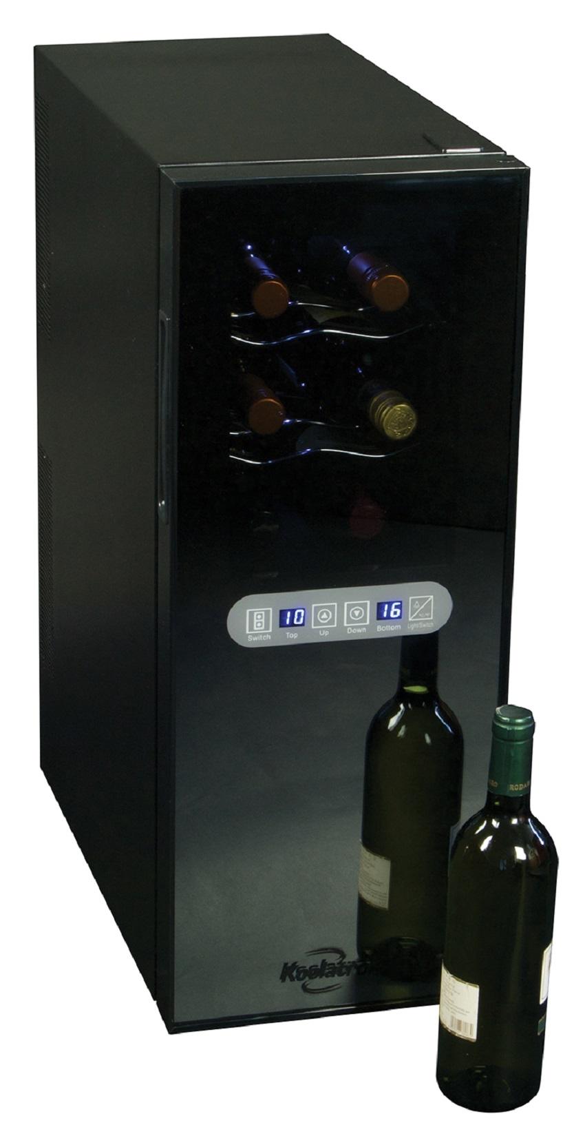 Koolatron WC12 DZ 12 Bottle Dual Zone Wine Cellar PartNumber: 04649039000P KsnValue: 9042974 MfgPartNumber: WC12 DZ
