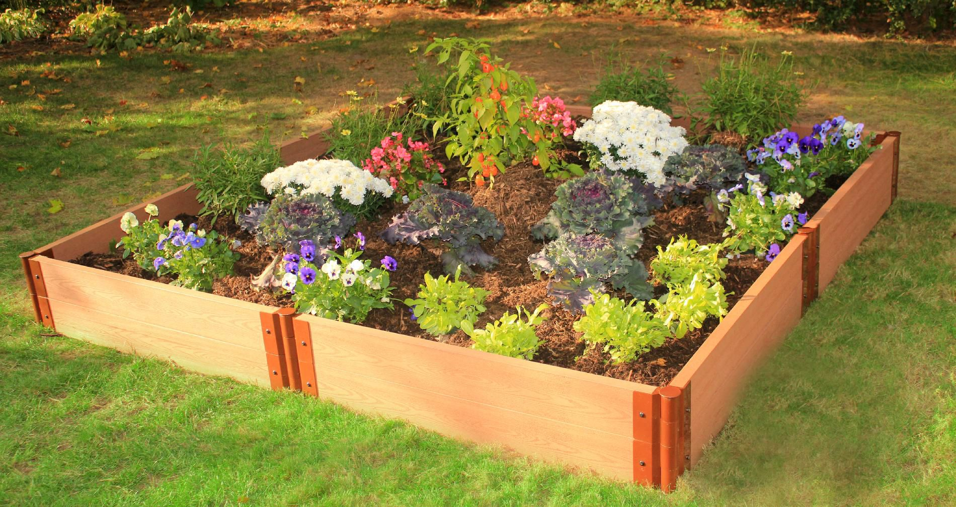 Frame It All Two Inch Series 8ft. x 8ft. x 11in. Composite Raised Garden Bed Kit