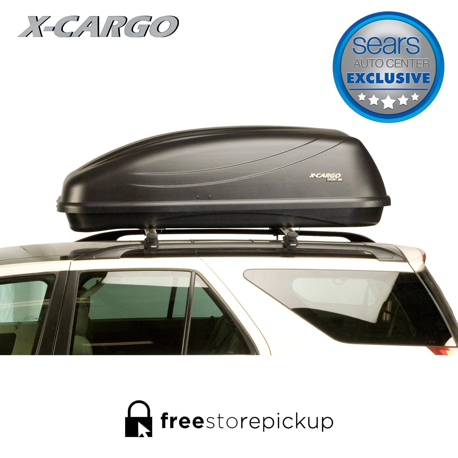 x cargo 20 cu ft car top carrier black rh sears com Sears Sport 20 X-Cargo Sport 2 0