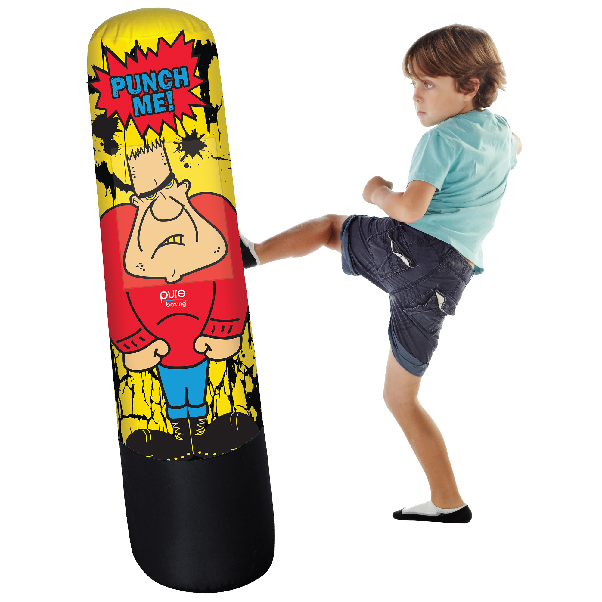 Image of Pure Boxing Bully Bag Inflatable Punching Bag for Kids, Brown