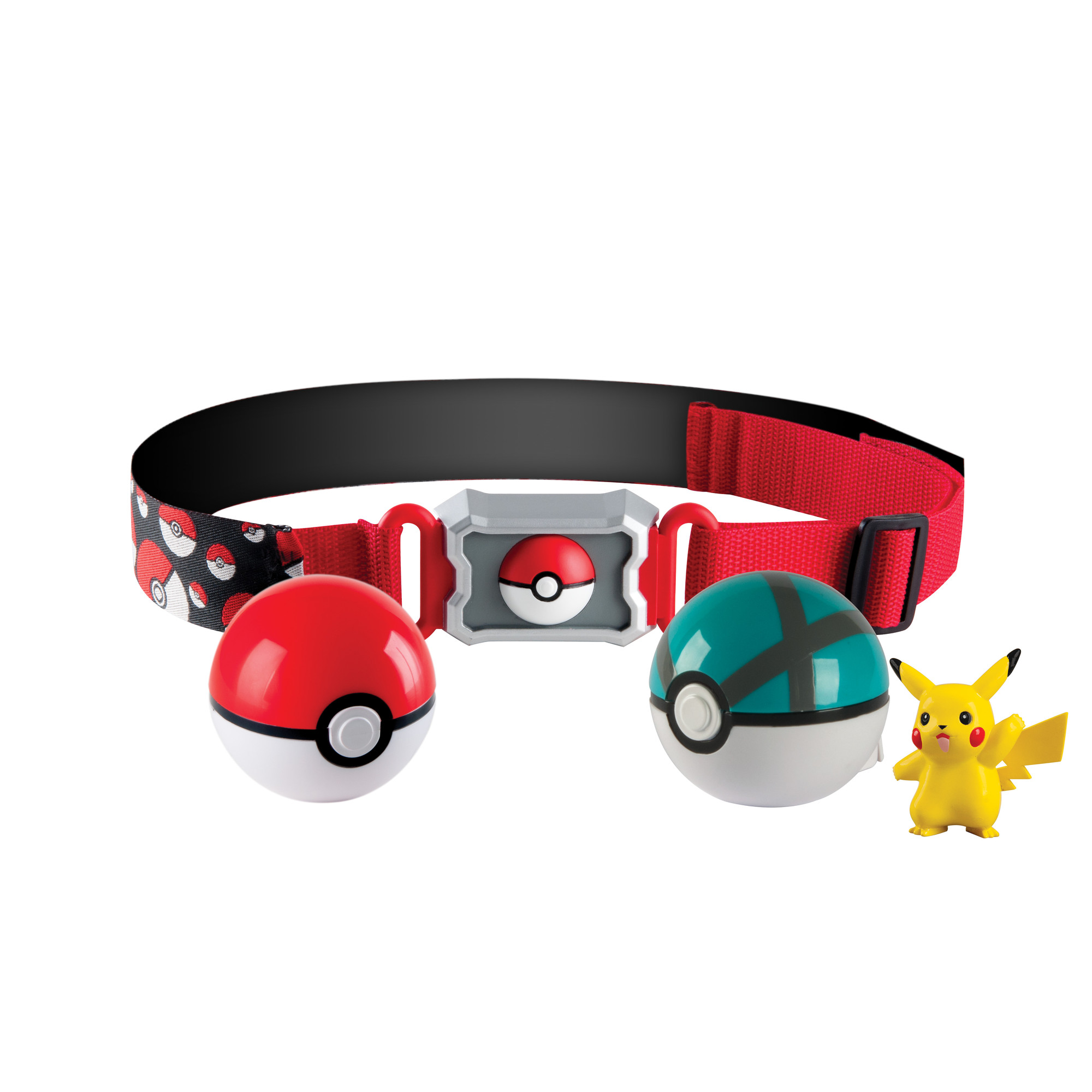 Pokemon Clip N Carry Poke Ball 2 inch Action Figure with Belt - Pikachu PartNumber: 004W009284198001P