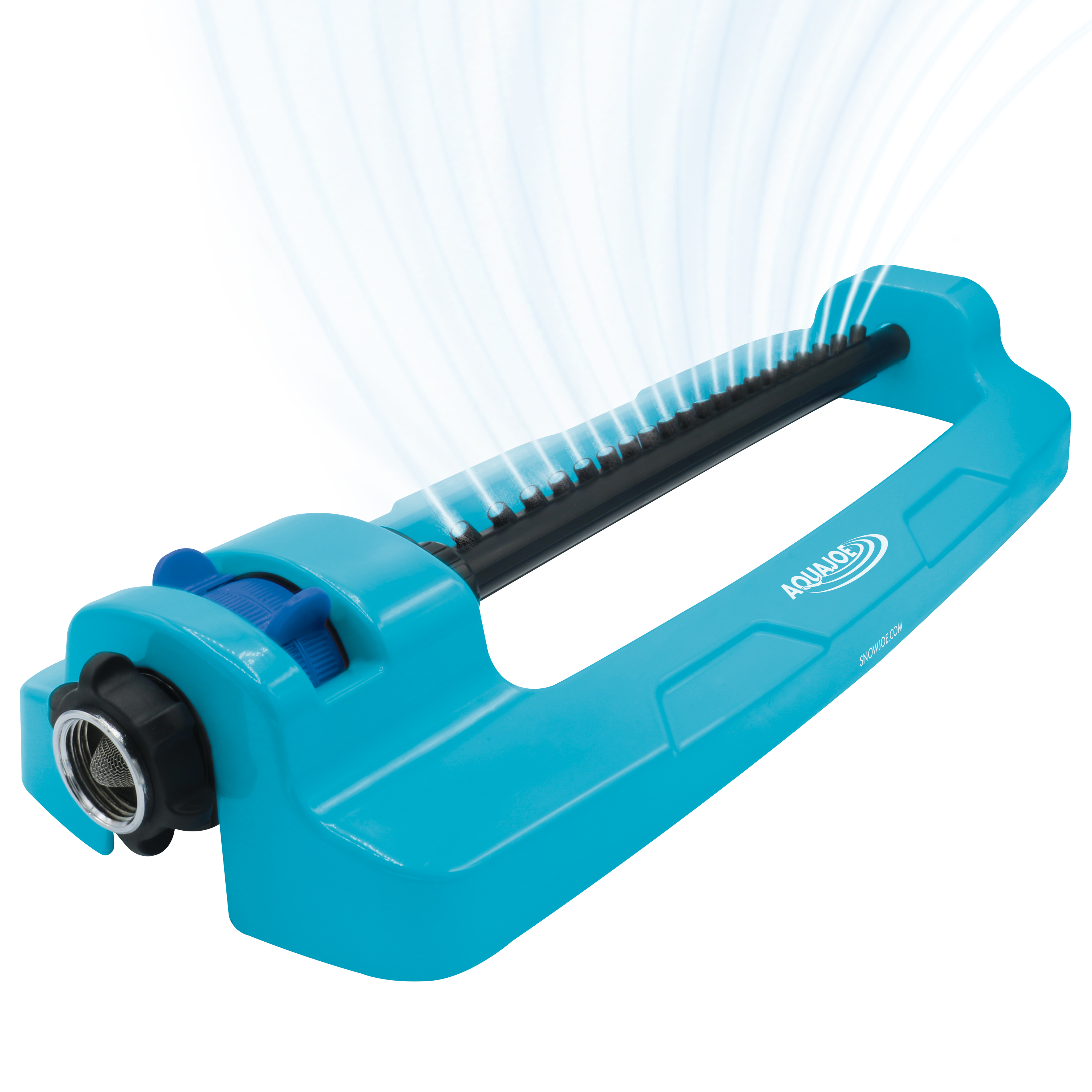 Image of Aqua Joe SJI-OMS20 Indestructible Jumbo Metal Base Oscillating Sprinkler | 4,400 Sq Ft Coverage