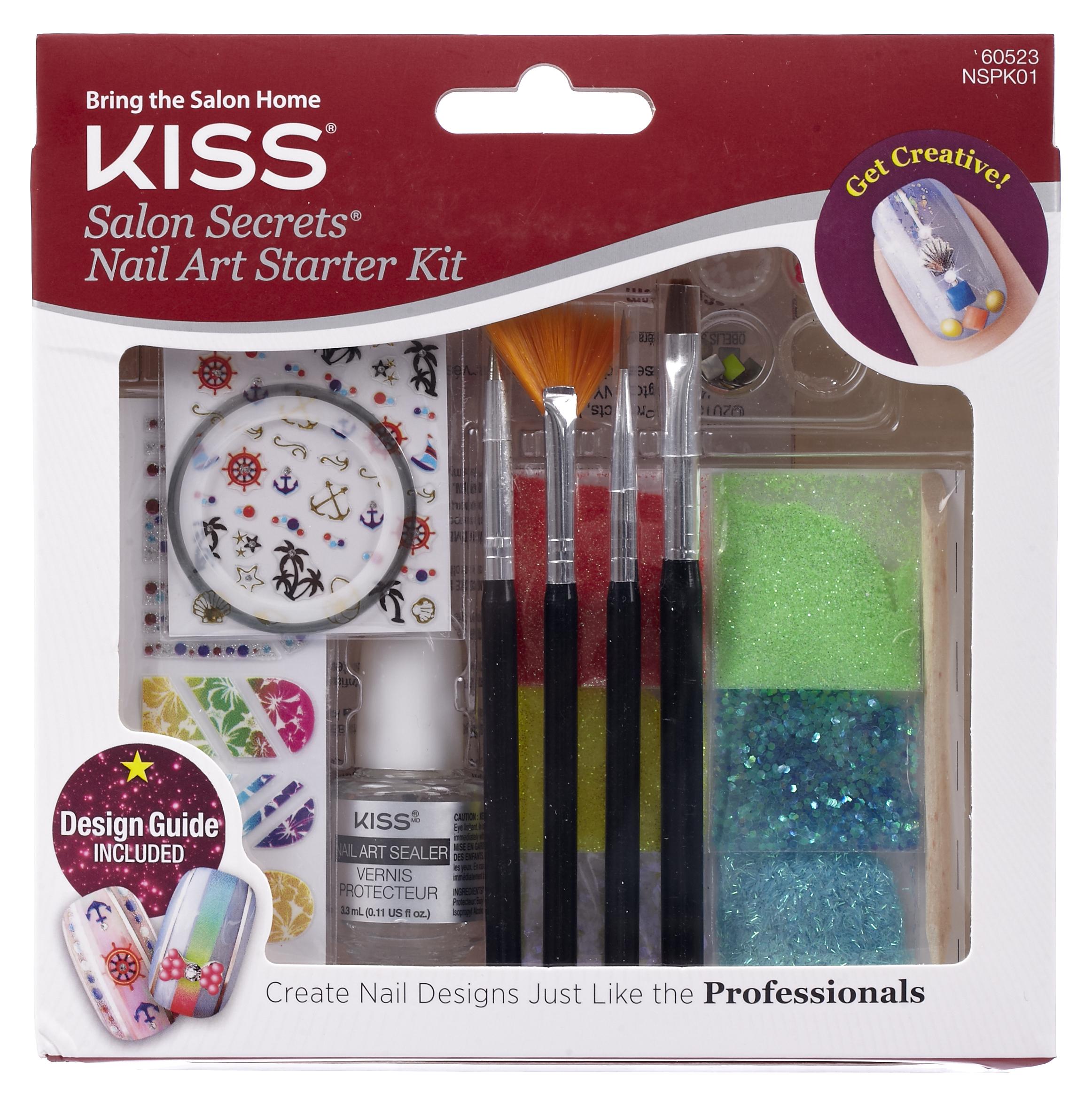 Kiss Gel Nail Kit Review: Kiss Salon Secrets Nail Art Starter Kit, 17 Ct.
