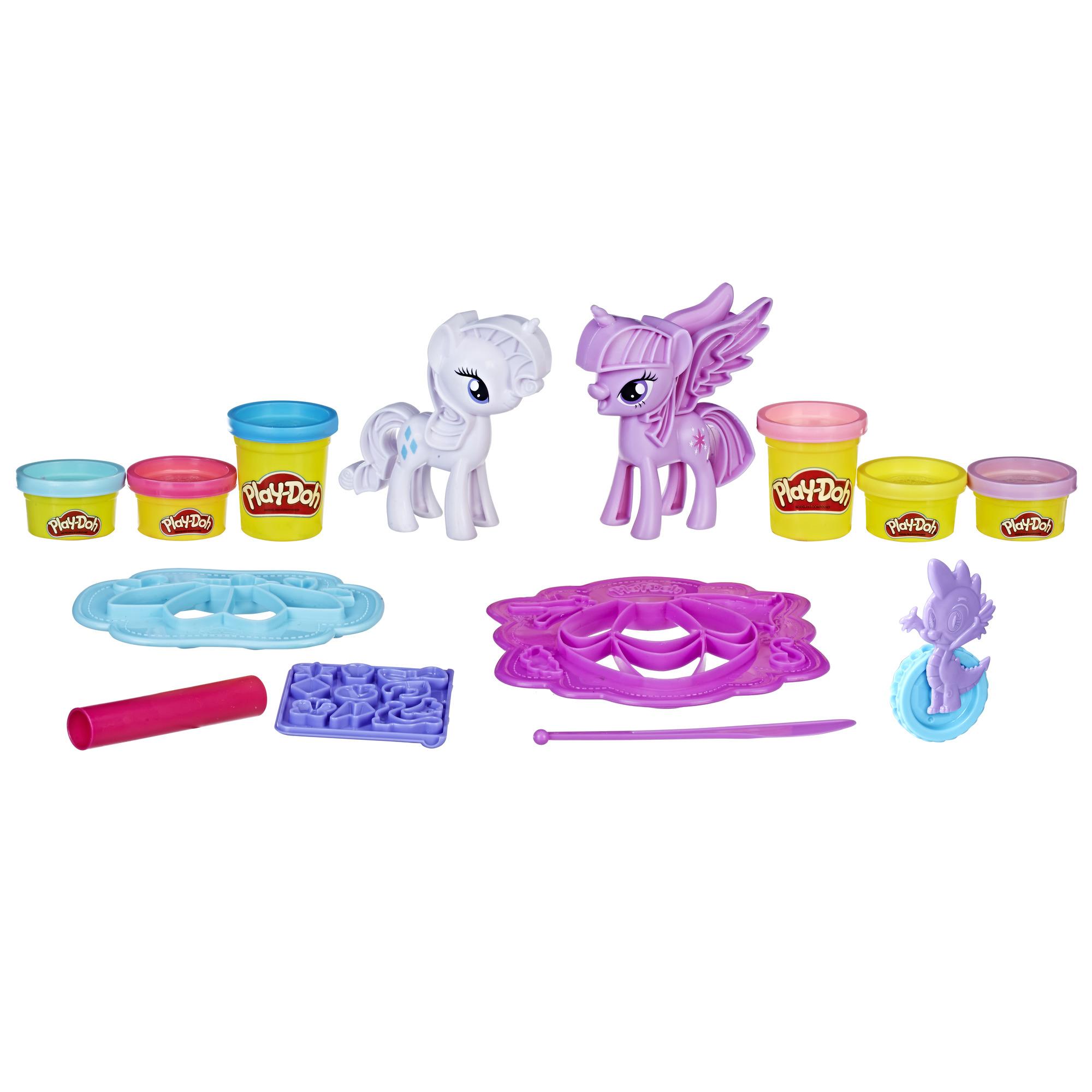Play-Doh My Little Pony Princess Twilight Sparkle and Rarity Fashion Fun PartNumber: 004W009688816001P KsnValue: 9688816 MfgPartNumber: B9717