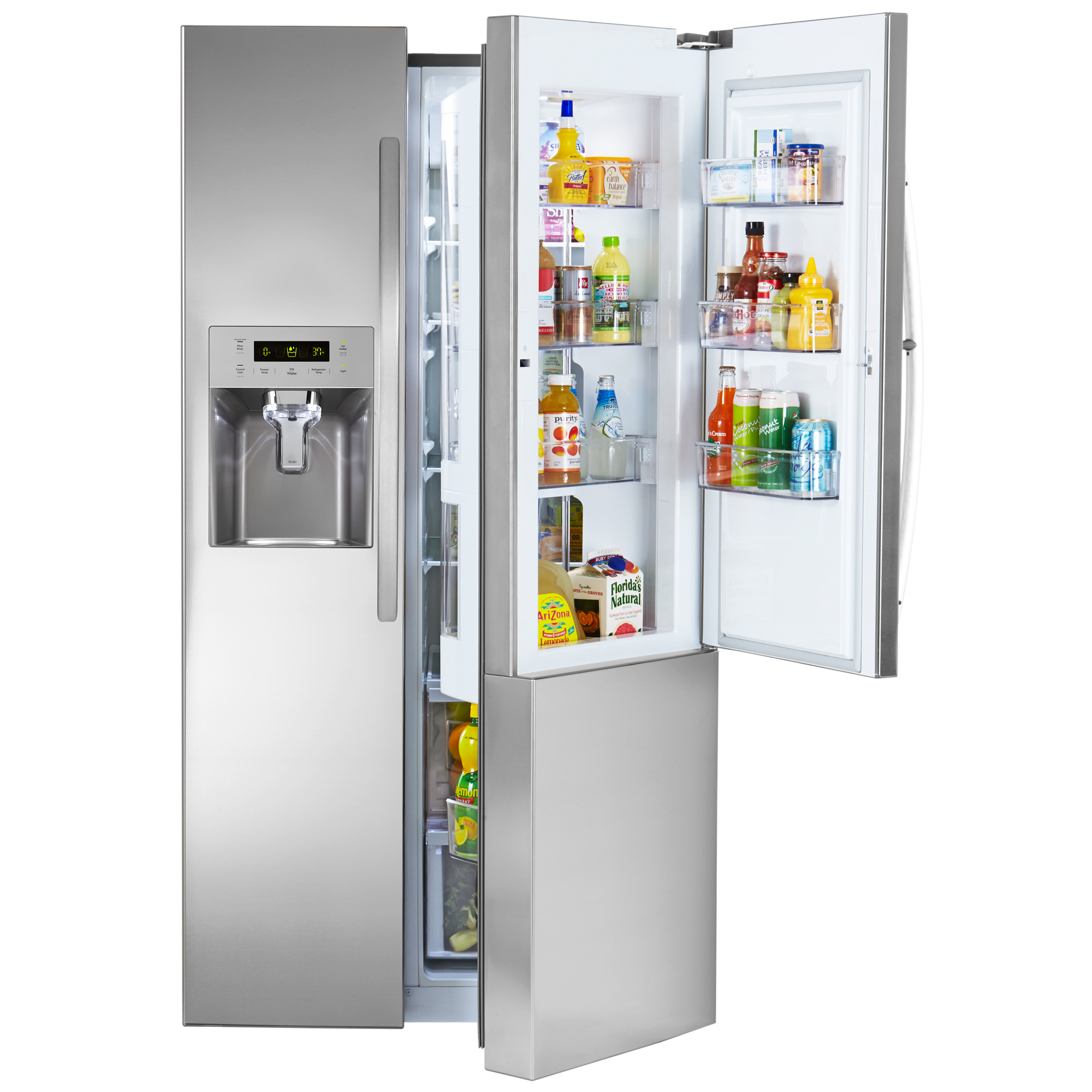 Side By Side Refrigerator With Grab