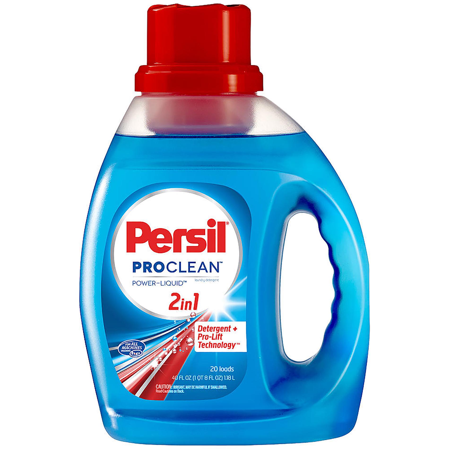 Persil ProClean Power-Liquid 2in1 Detergent 40 FL OZ JUG, Size: 40 oz