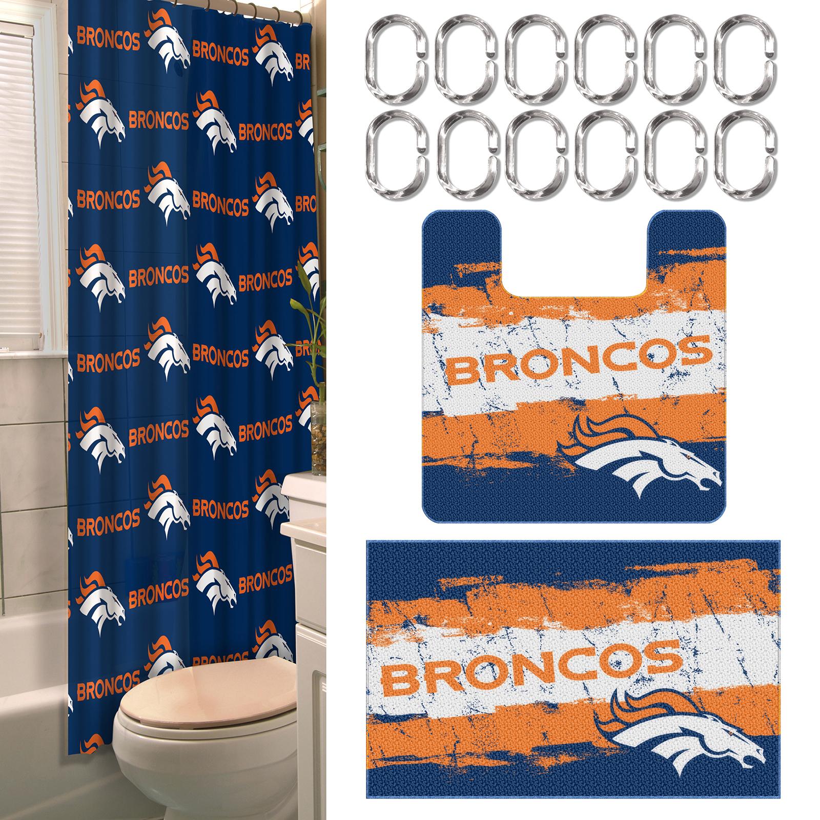 Chicago bears bathroom accessories - Nfl Denver Broncos Bathroom Set Fitness Sports Fan Shop Nfl Shop Denver Broncos Denver Broncos Bedding Bath