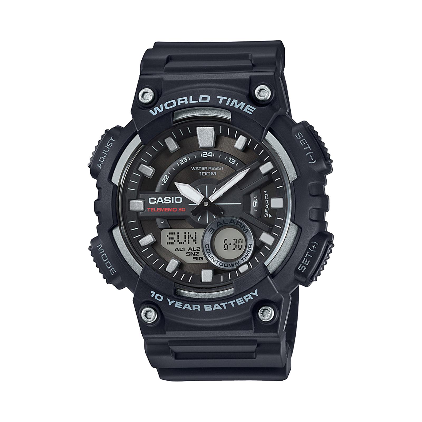 Men's Analog Digital Black Watch