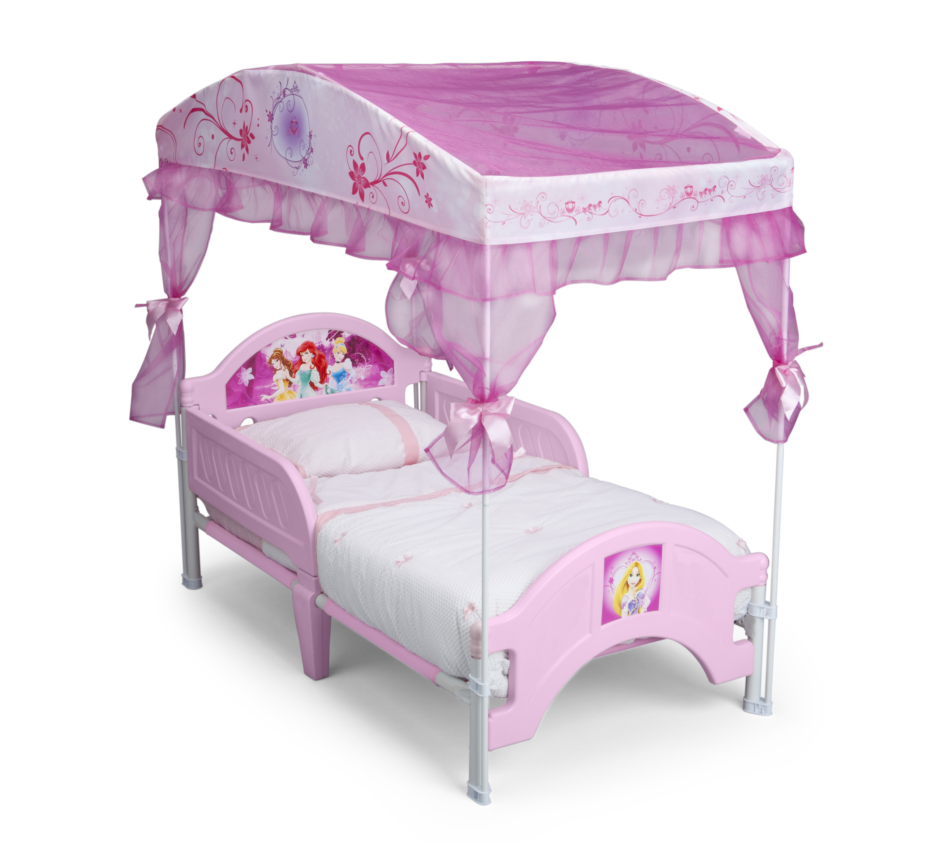Delta Children Disney Princess Canopy Toddler Bed Baby Toddler