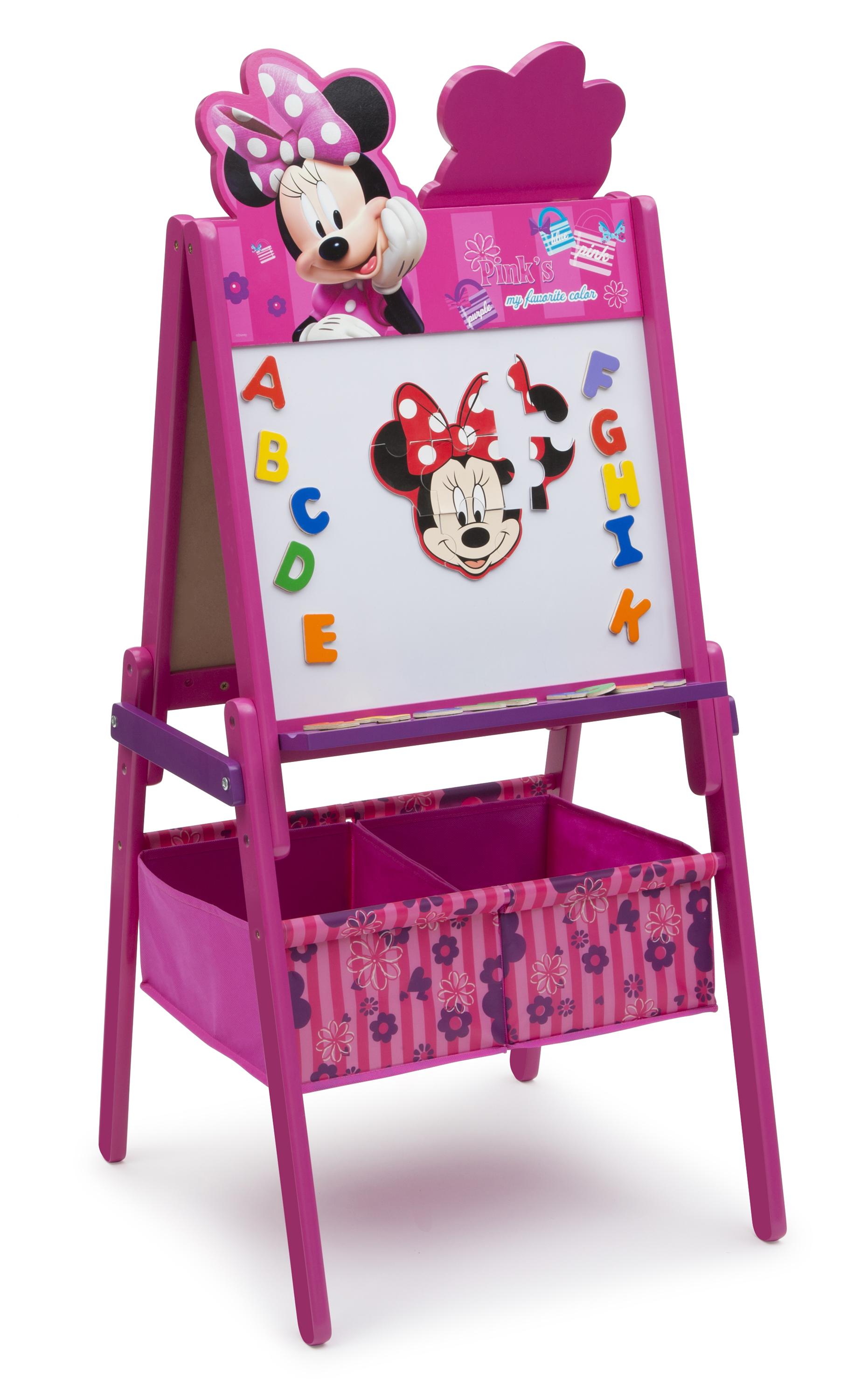 Delta Children Minnie Mouse Wooden Double Sided Easel With Storage   Toys U0026  Games   Arts U0026 Crafts   Easels U0026 Art Desks