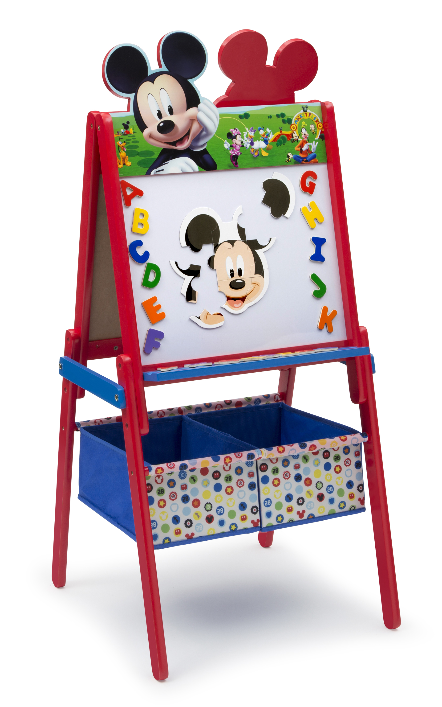 Delta Children Mickey Mouse Wooden Double Sided Easel With Storage Toys Arts Crafts Easels Art Desks