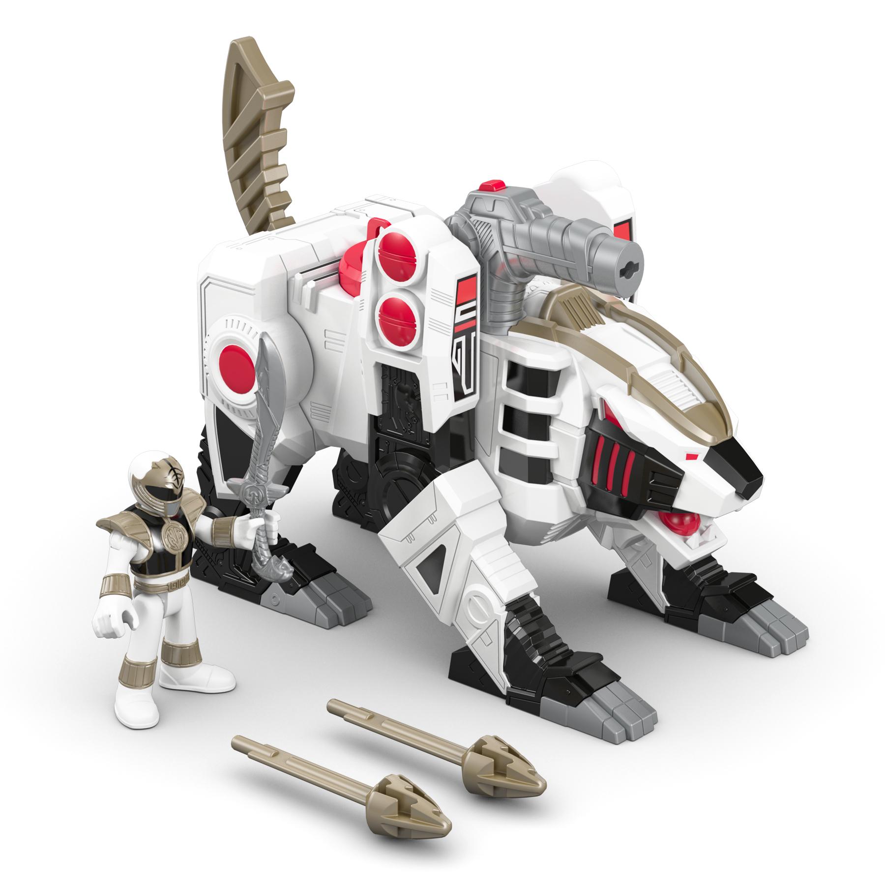 Power Rangers White Ranger & Tiger Zord PartNumber: 004W008005389005P KsnValue: 8005389 MfgPartNumber: DFX59