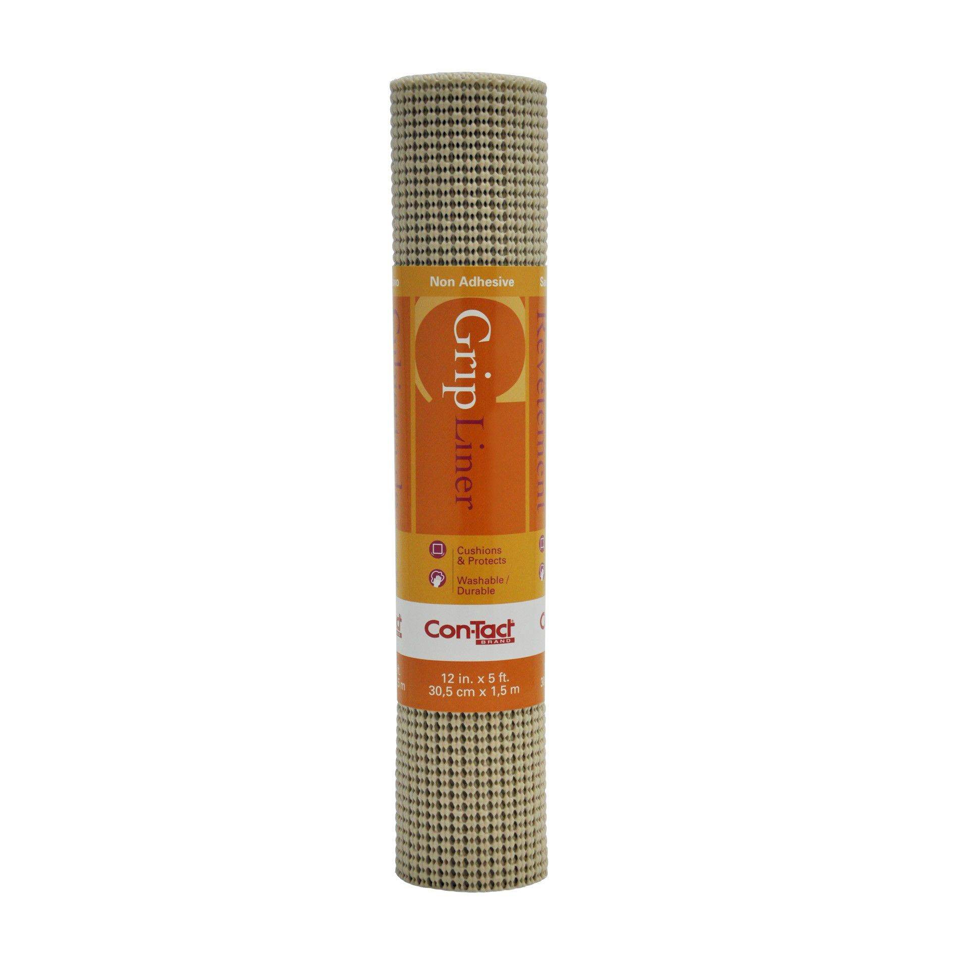 Image of Con-Tact Brand Non Slip Grip Liner 12 In x 5 Ft - Taupe, Beige & Tan-05F-C7Y59-06