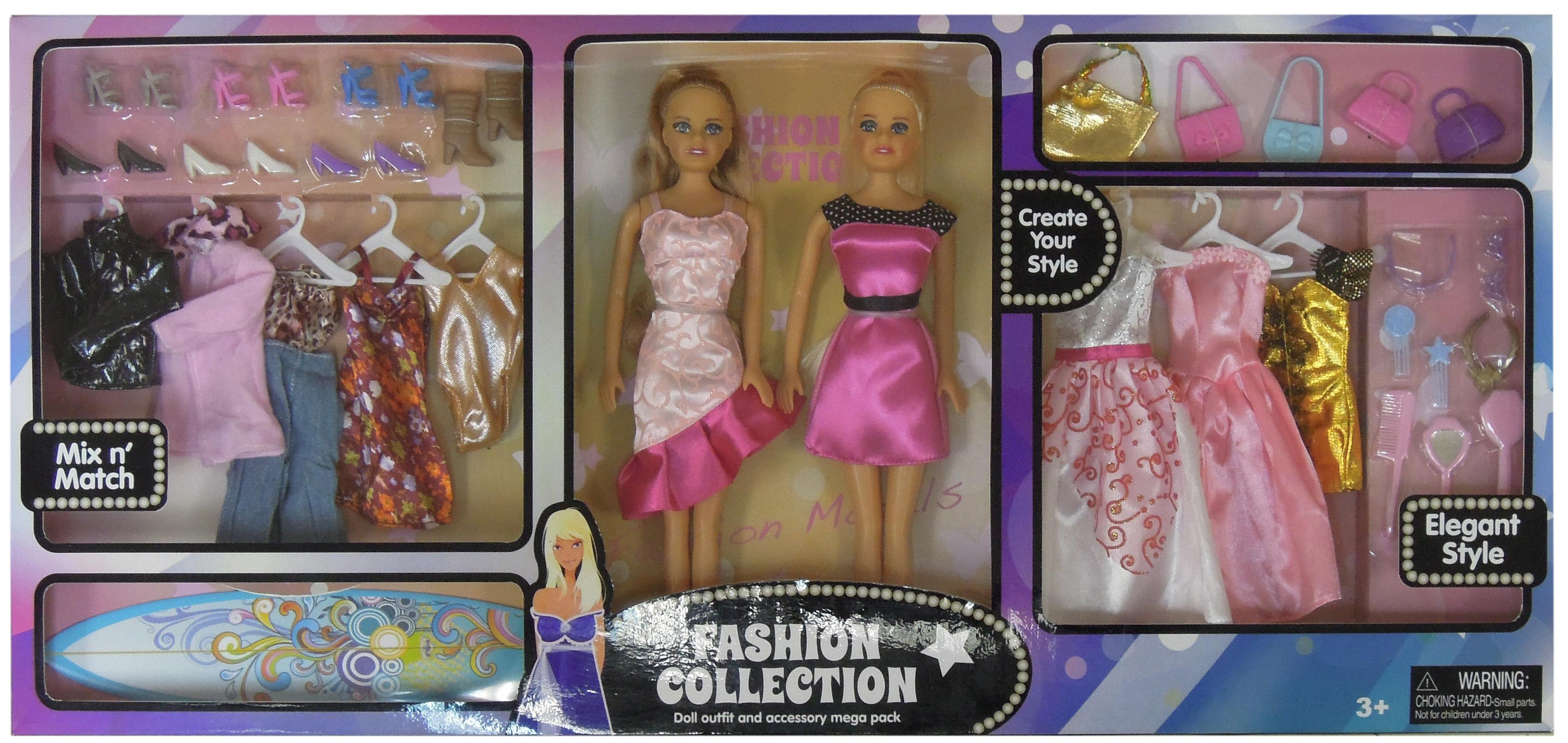Harbor Trade 2Pk. Fashion Doll Mega Set PartNumber: 05254729000P KsnValue: 7332592 MfgPartNumber: 8836-3M