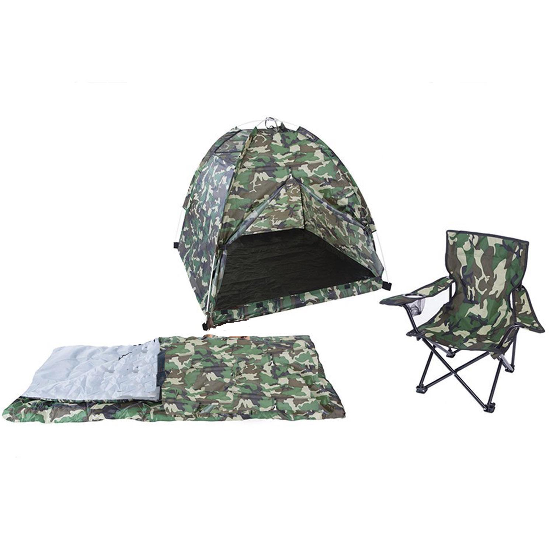 Green Camo Tent Set