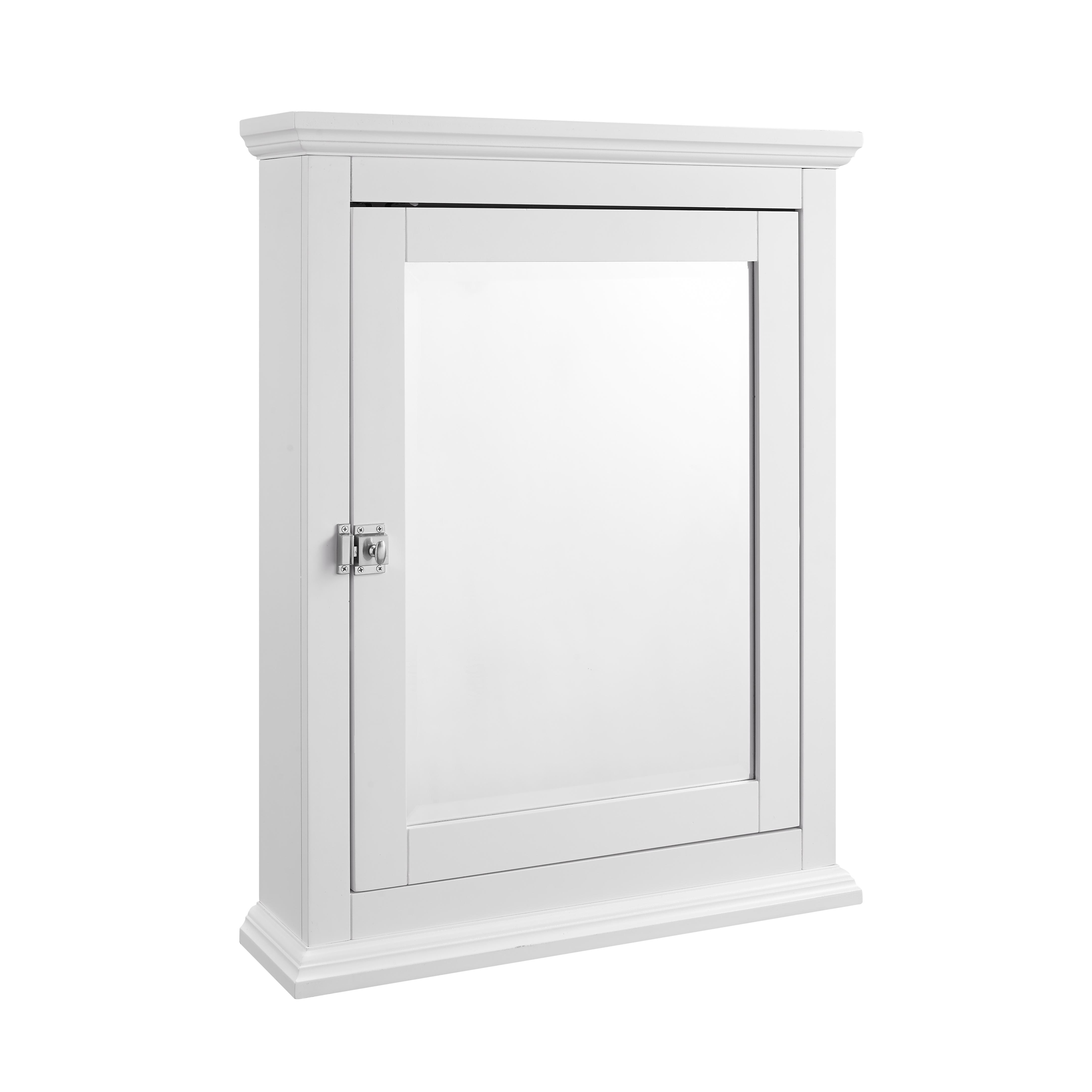 white bathroom storage