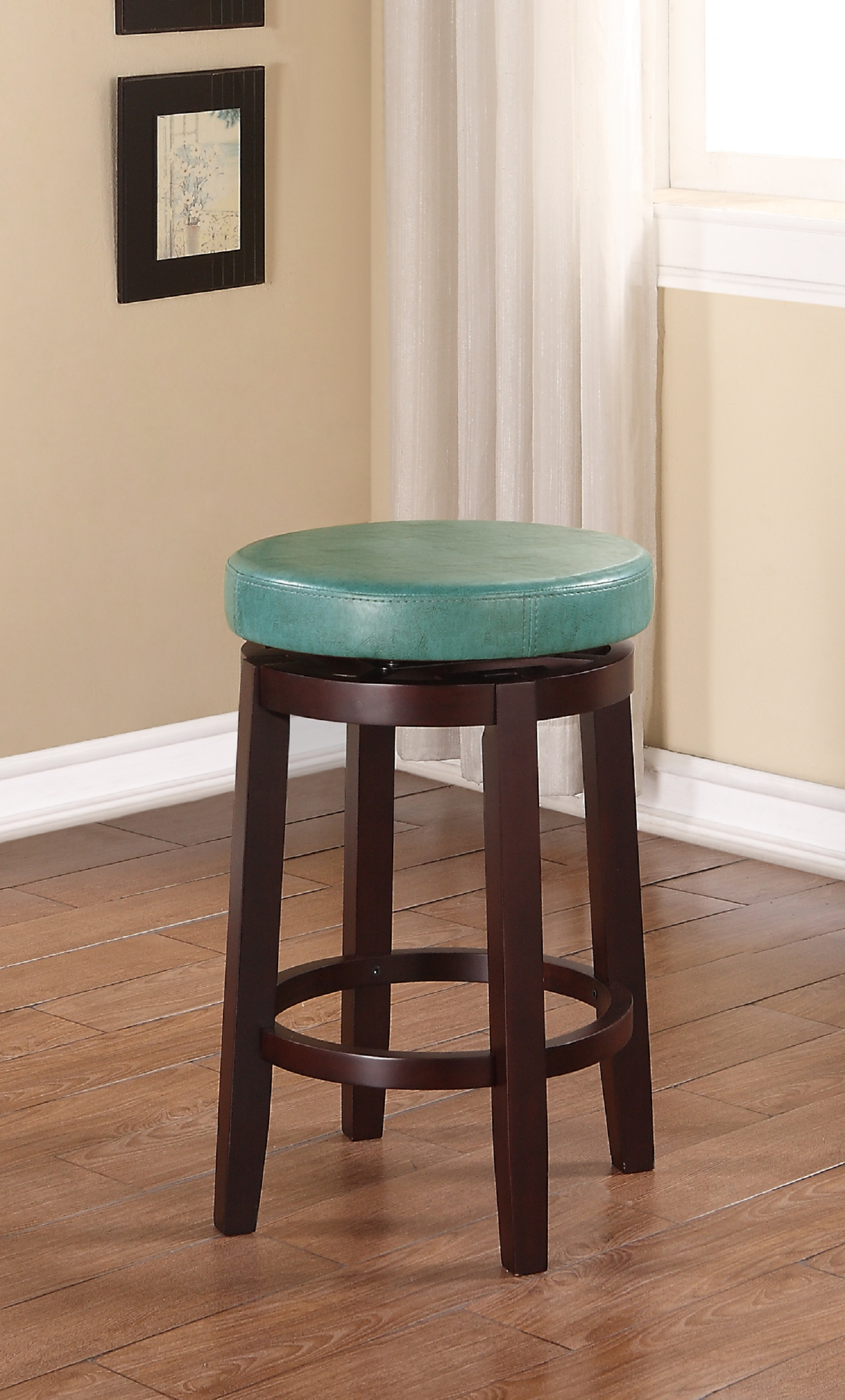 Linon Maya Teal 24 Quot Counter Stool