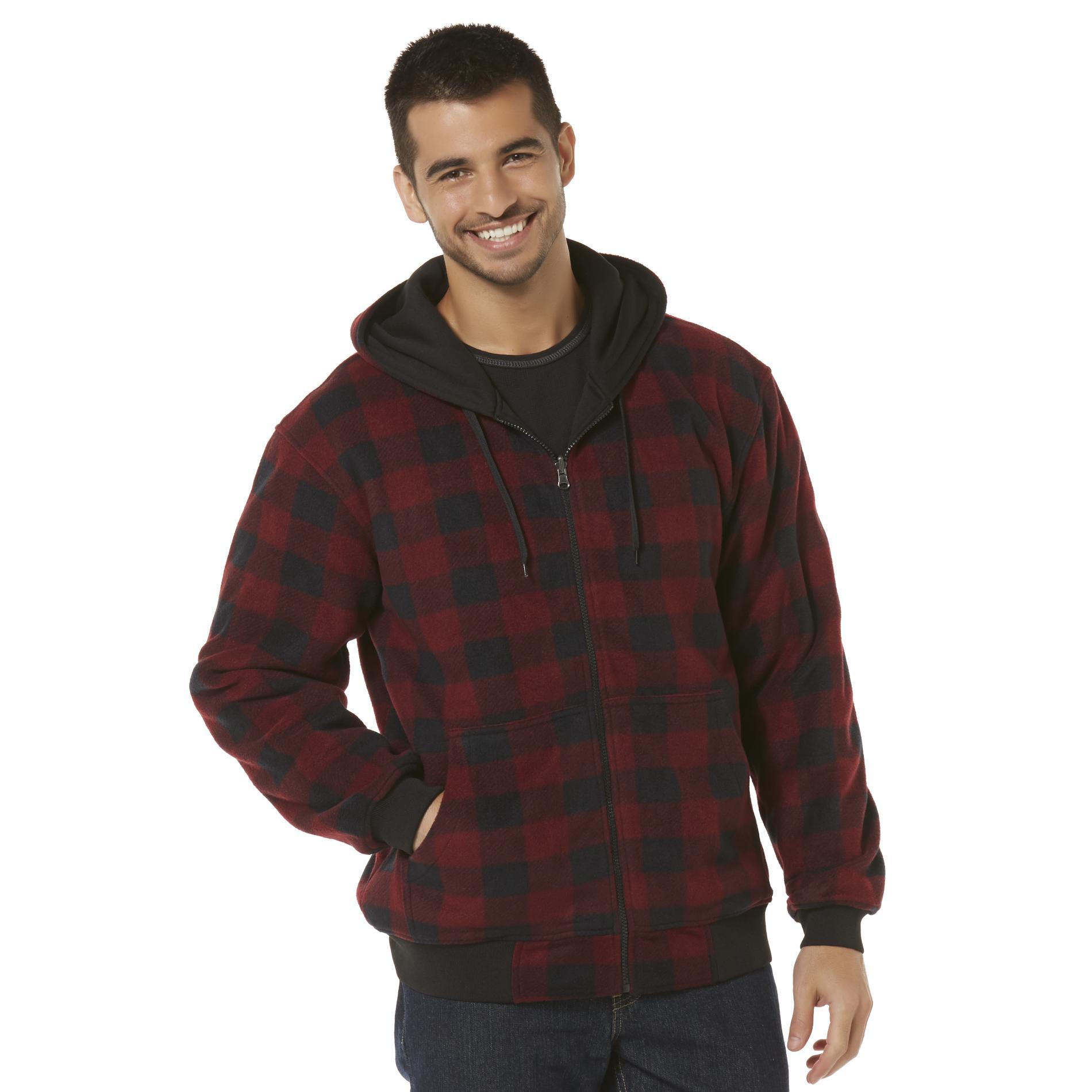 Men's Big & Tall Reversible Hoodie Jacket