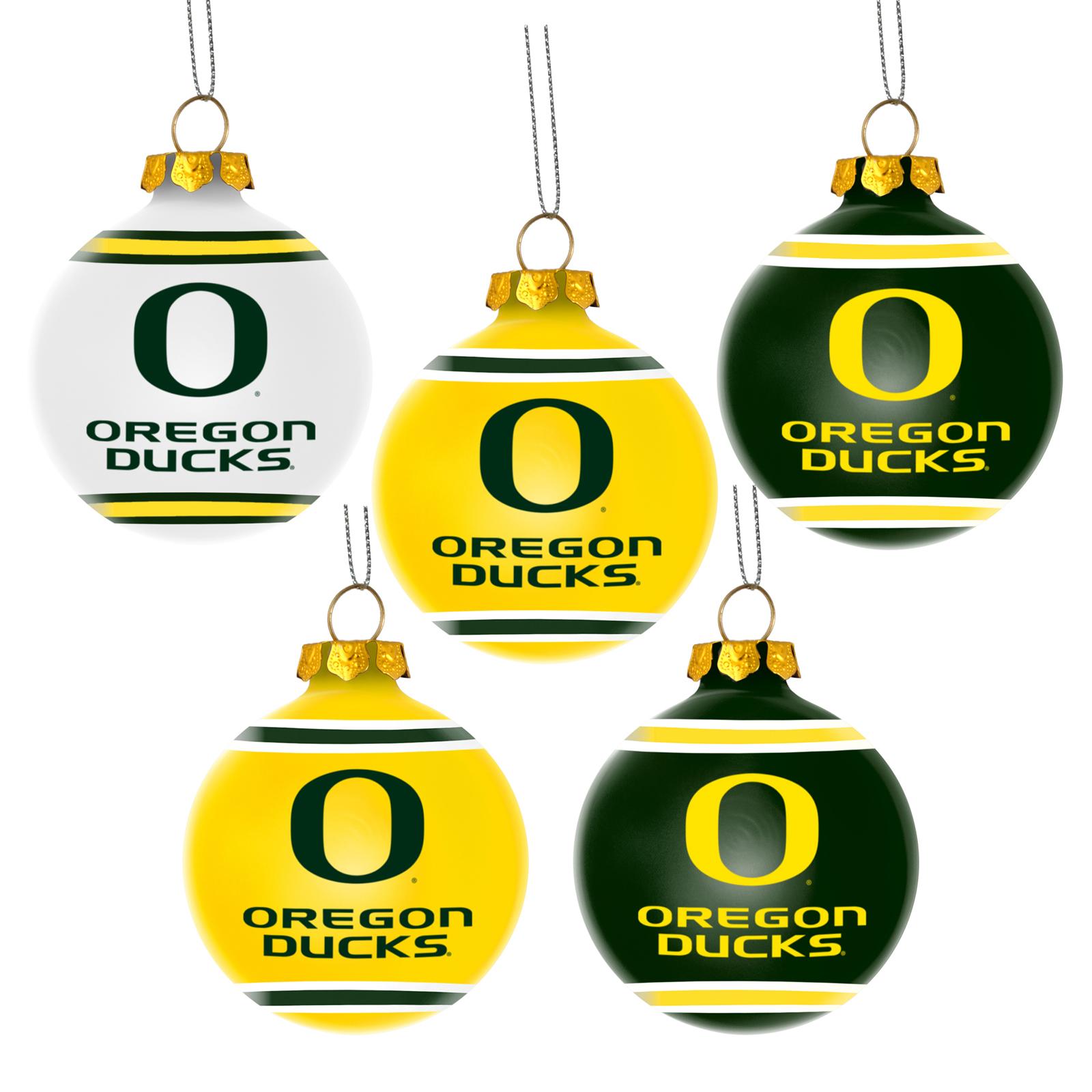 Forever Collectibles NCAA 5 Pack University of Oregon Ducks Shatterproof Ball Ornaments PartNumber: 009V002228429000P KsnValue: 2228429 MfgPartNumber: 185662