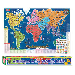 Kids educational workbooks kmart ts shure animals of the world map pictorial poster gumiabroncs Gallery