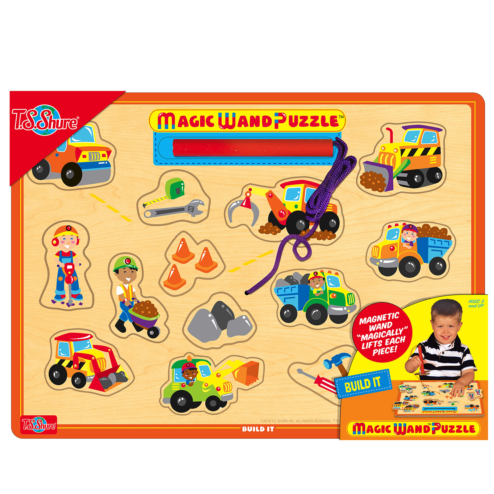 TS Shure Build It Wooden Magnetic Magic Wand Puzzle PartNumber: 05233152000P KsnValue: 9708568 MfgPartNumber: 195750