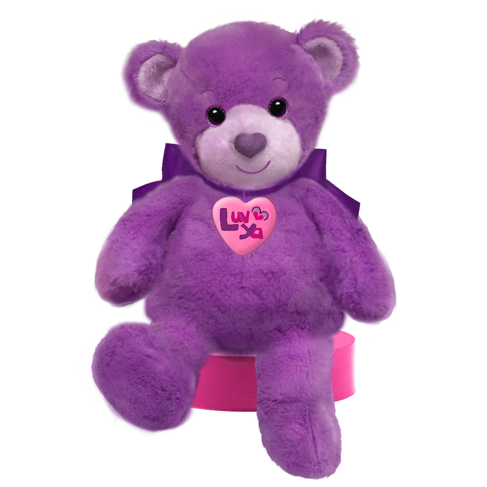 Luv Ya Purple 10 Inch Bear
