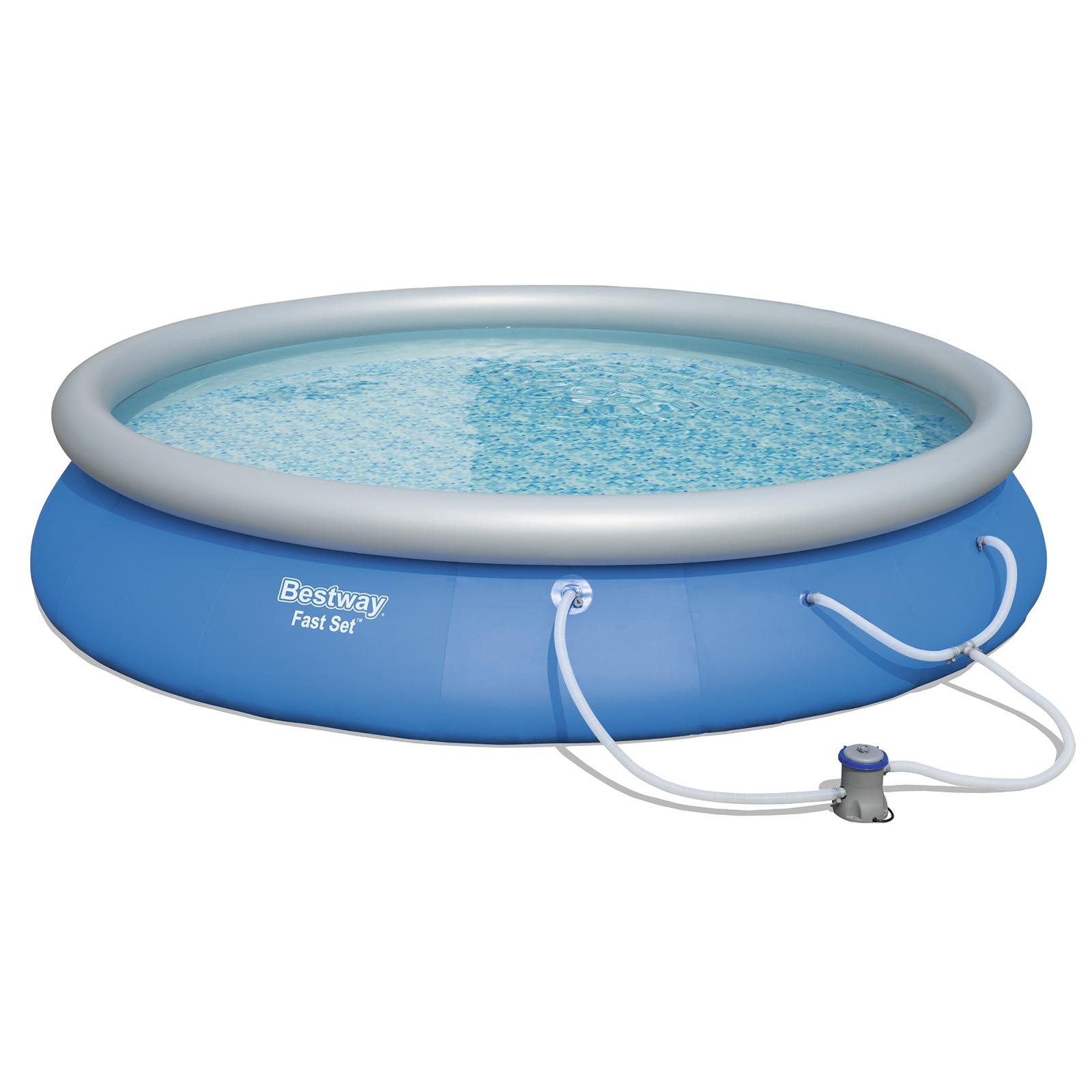 Image of Bestway Fast Set 15 Foot Diameter 33-Inch Deep Pool Set