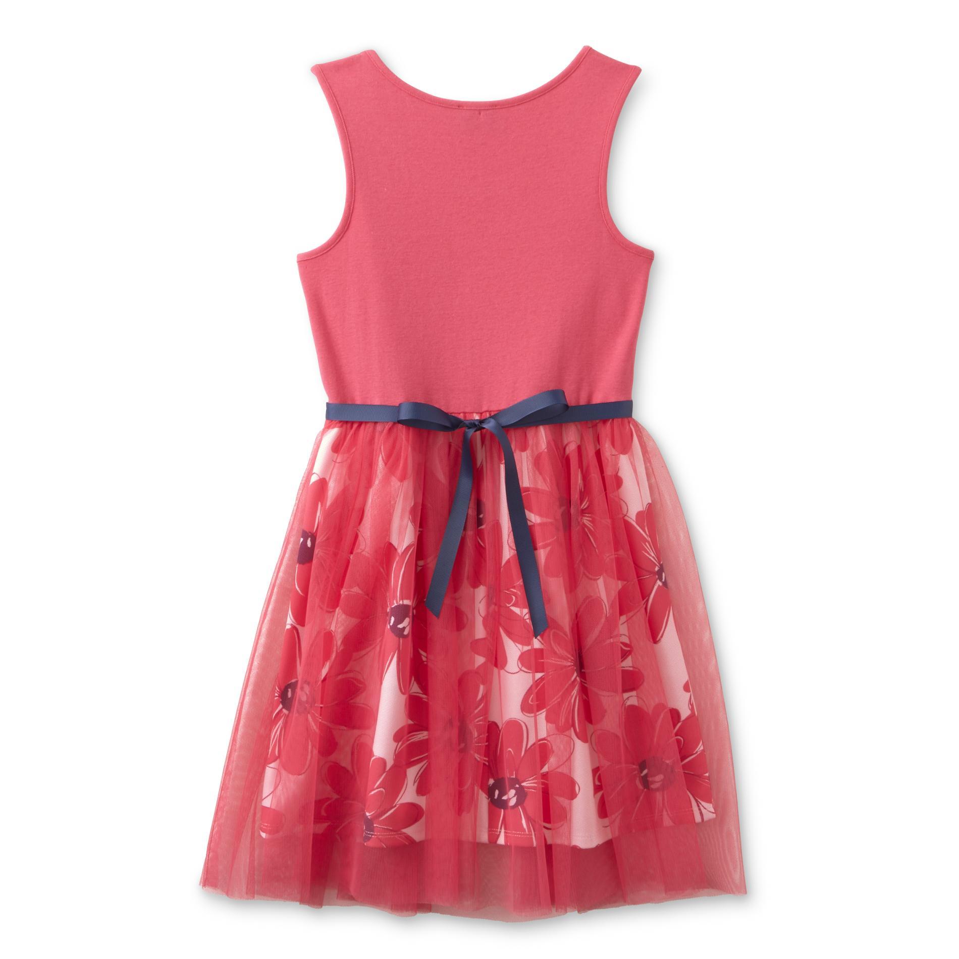 Lilt Girl's Sleeveless Dress - Floral Print