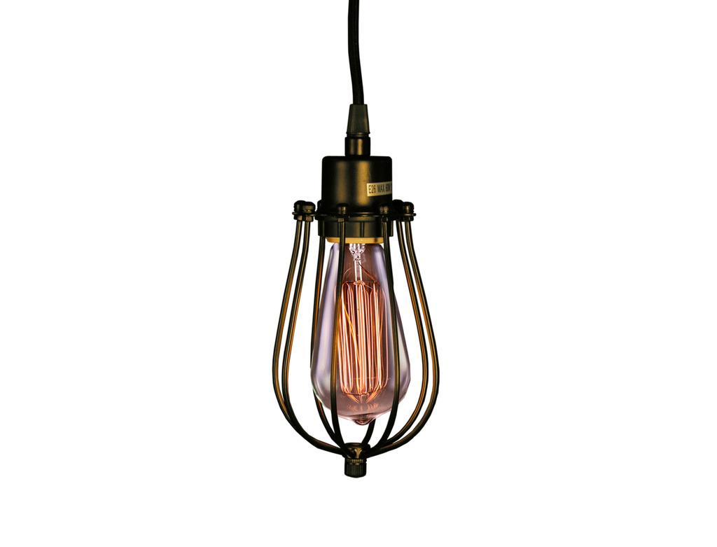 Priscilla Single-light Antique Black Edison Pendant