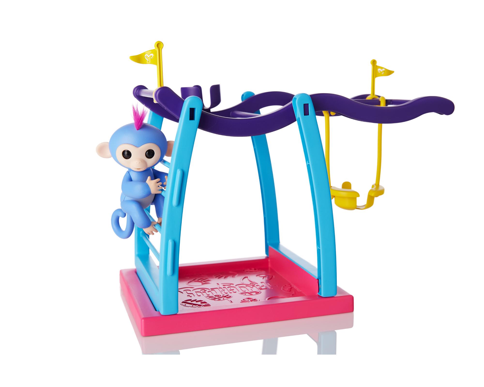 WowWee Fingerlings Monkey Bars/Swing Playset w/ 1