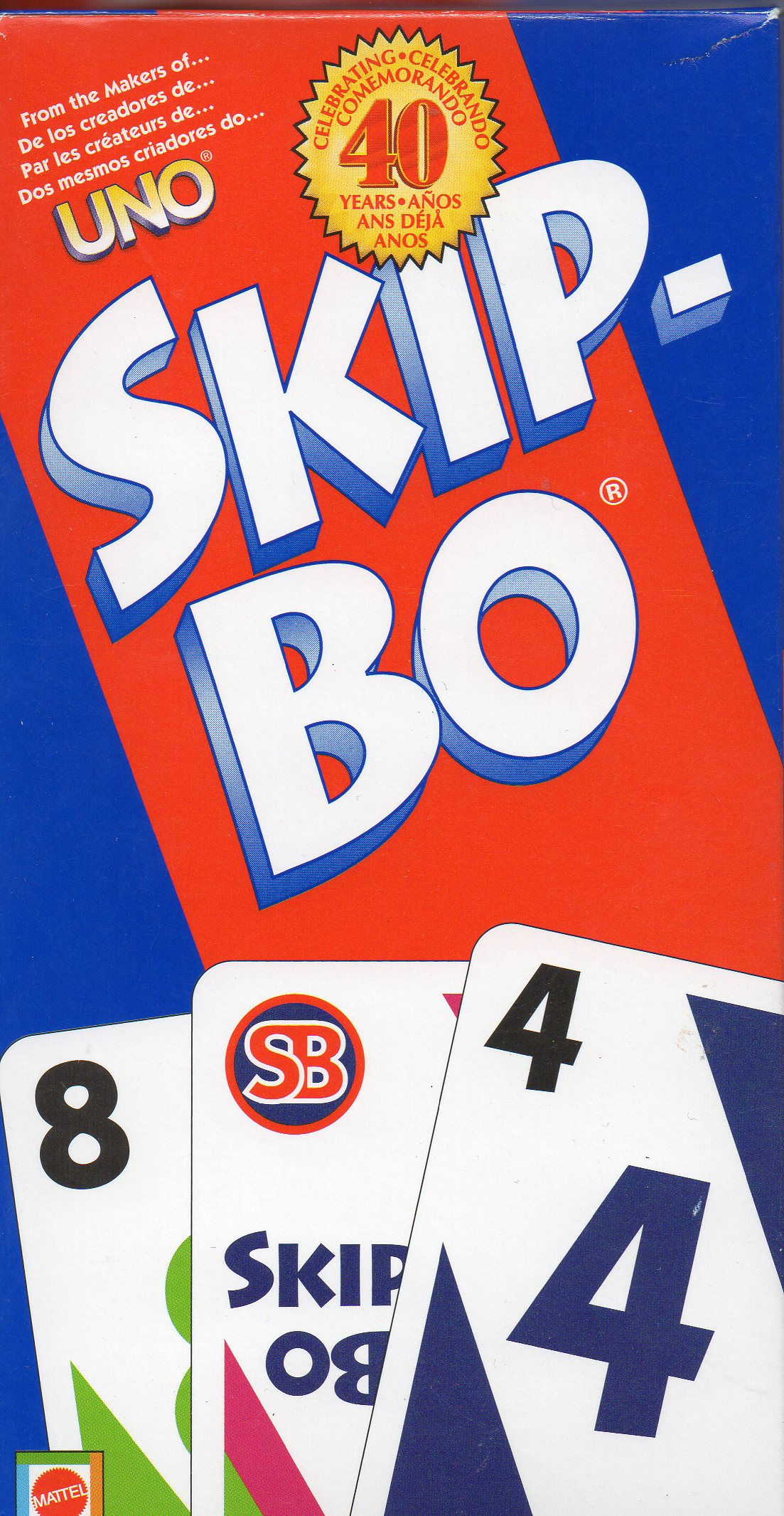 Mattel Skip-Bo Card Game, Multi-Color