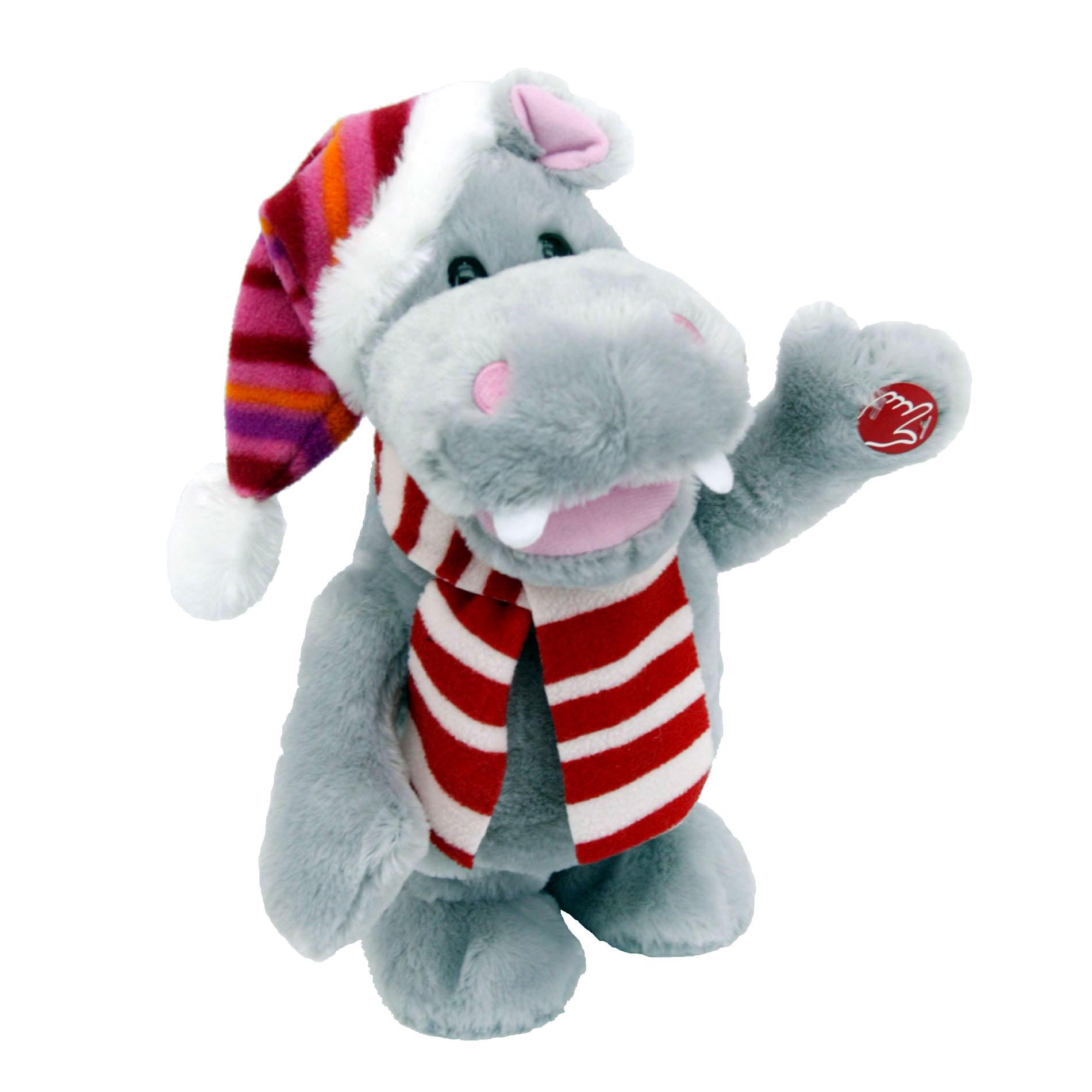 Animated Christmas Toys : Trim a home quot walking animated hippo seasonal