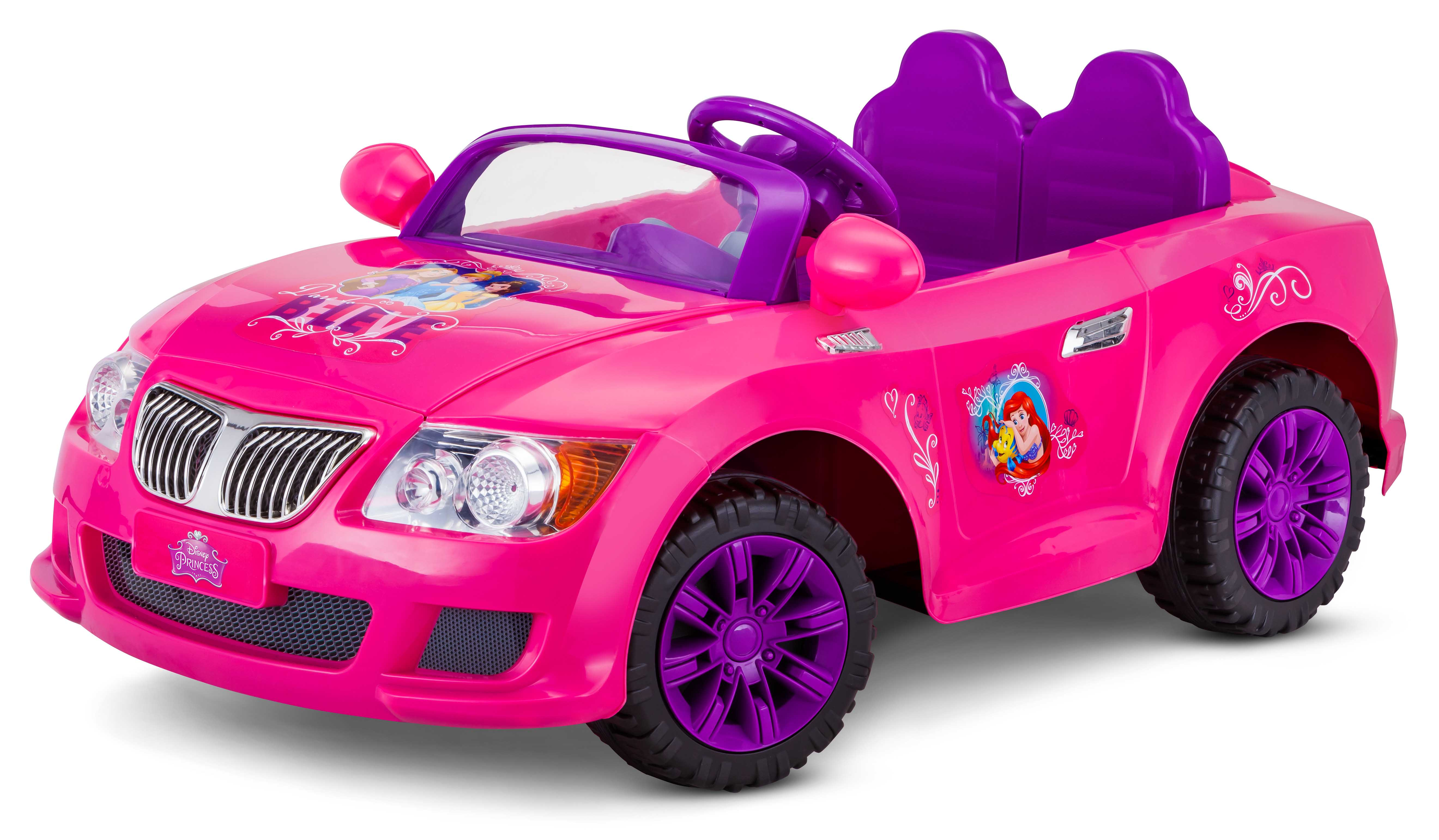 Power Wheels 12V Battery Ride-On Disney Princess Convertible - A Kmart Exclusive