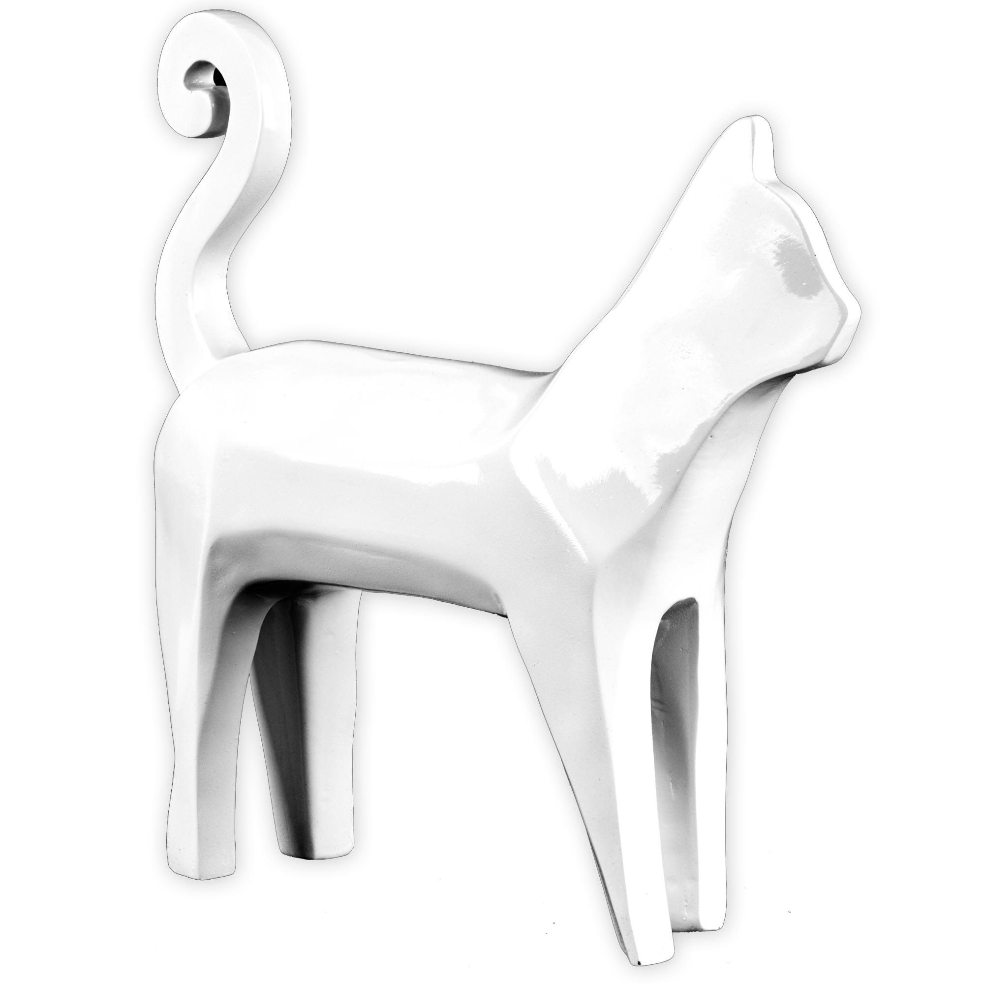 Crystal Art Abstract Cat White Resin Sculpture PartNumber: A023050987 KsnValue: 021V003085433000 MfgPartNumber: 76522WEB