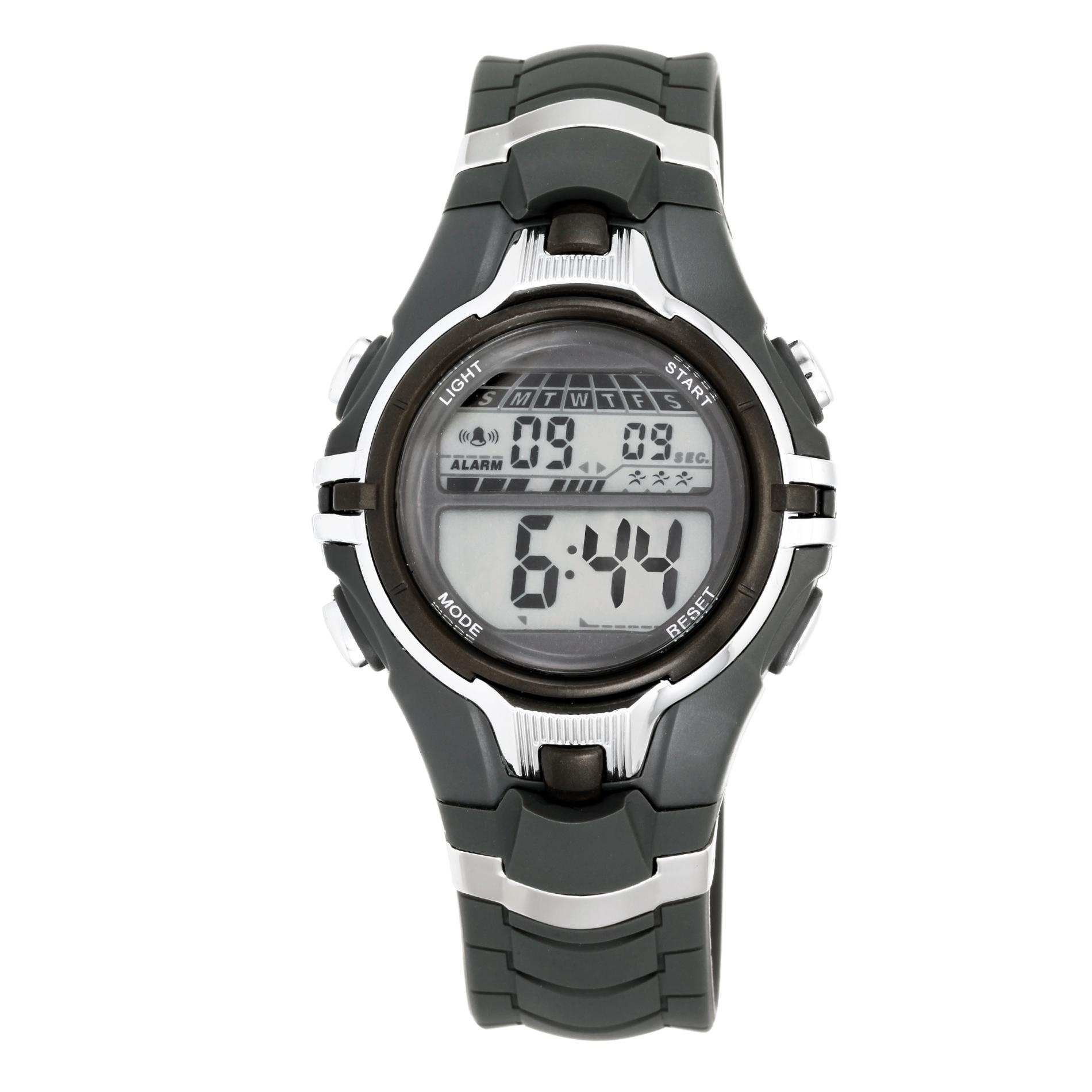 Men's Digital Strap Watch, gray