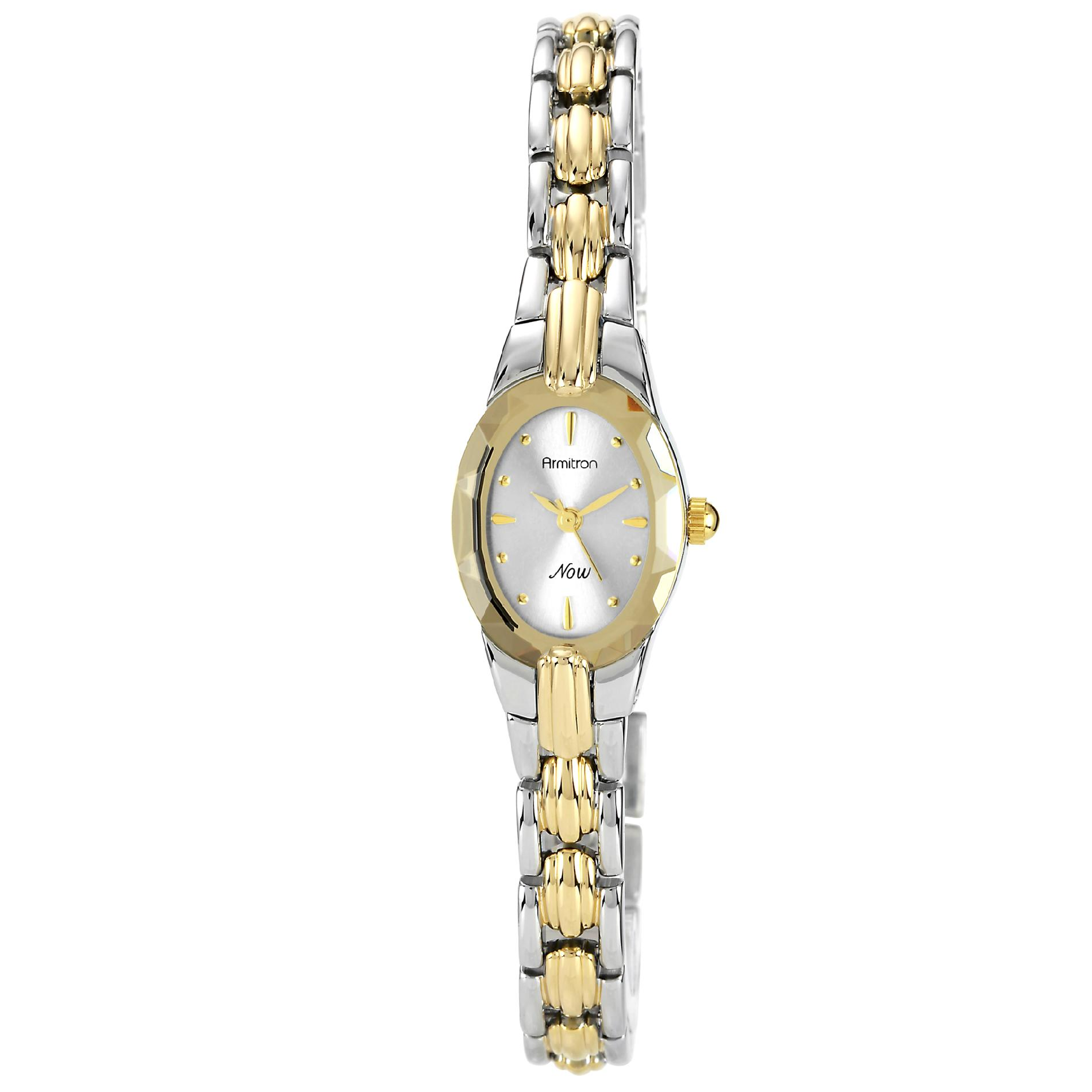 Armitron Ladies Two-Tone Bracelet Watch, Silver
