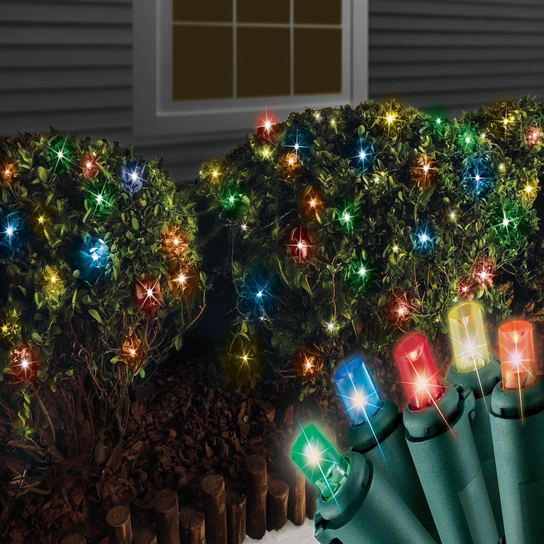 trim a home led 100ct net christmas lights multi colored - Christmas Lights Net