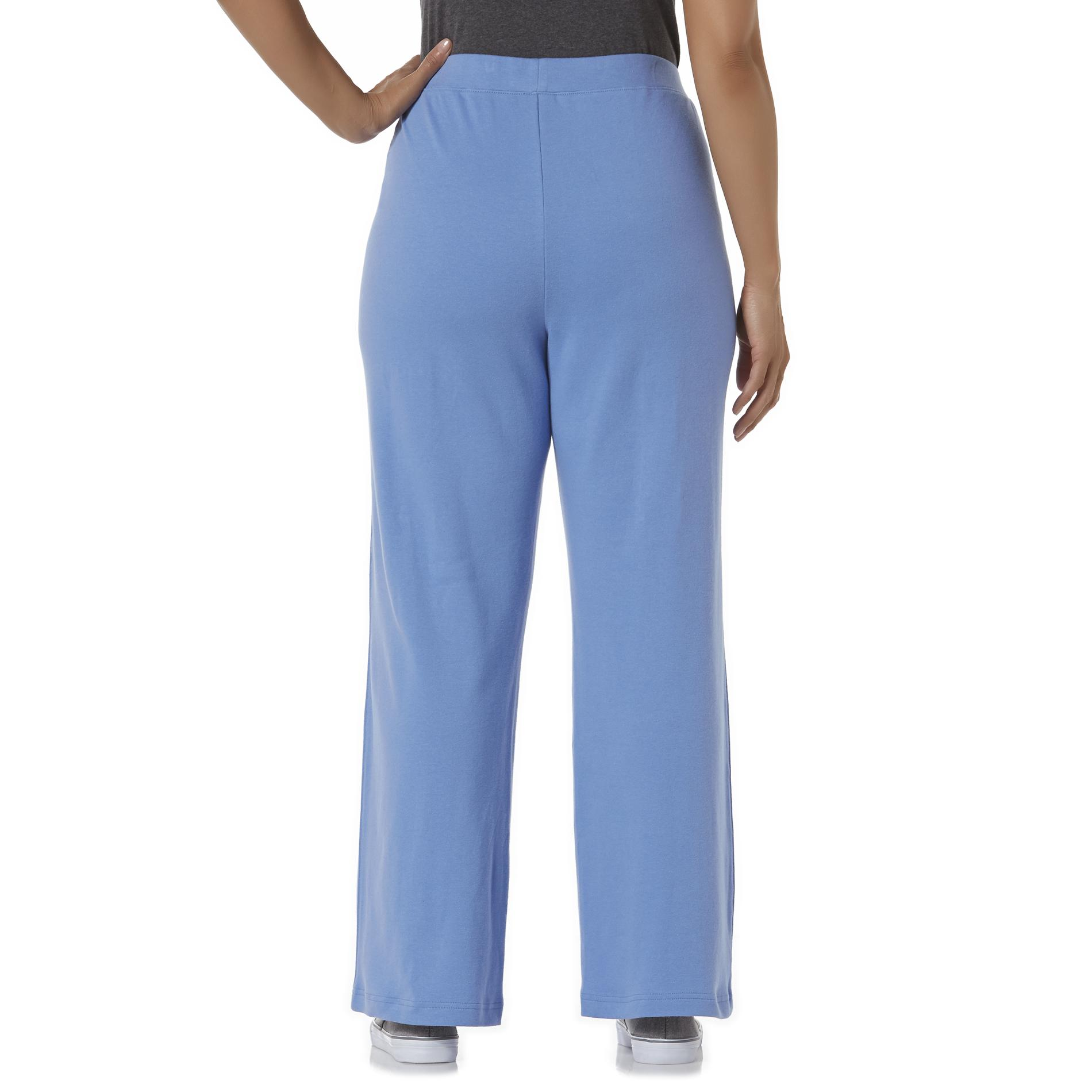 Basic Editions Women's Plus Knit Pants