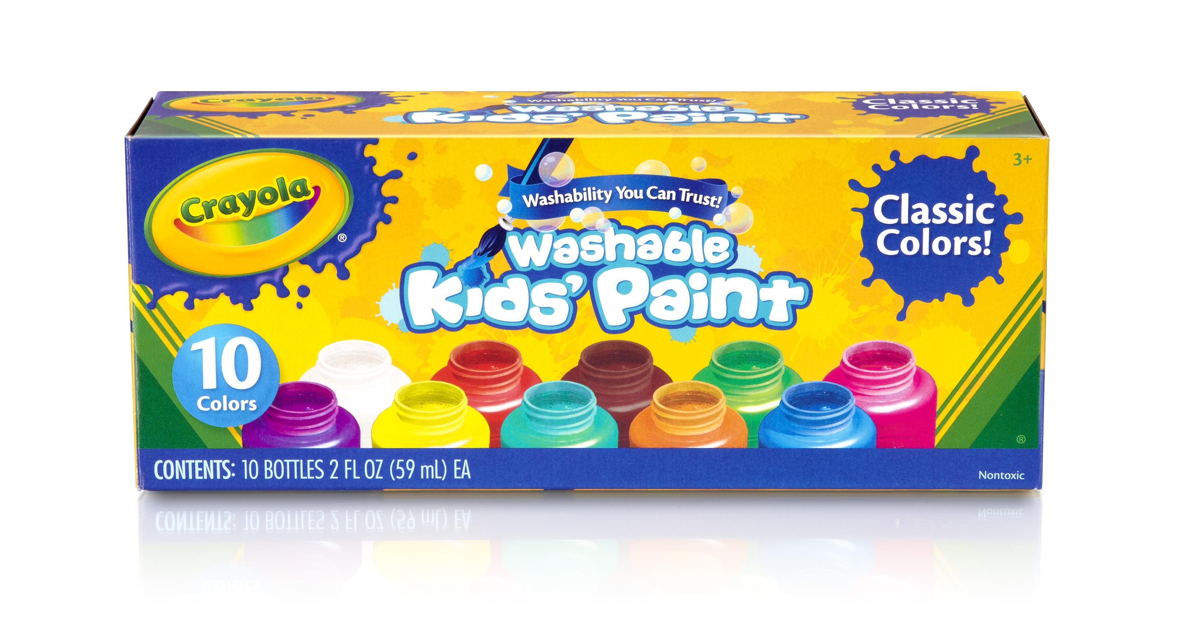 Crayola Washable Kids Paint, 10 Colors PartNumber: 025W025254411000P KsnValue: 25254411
