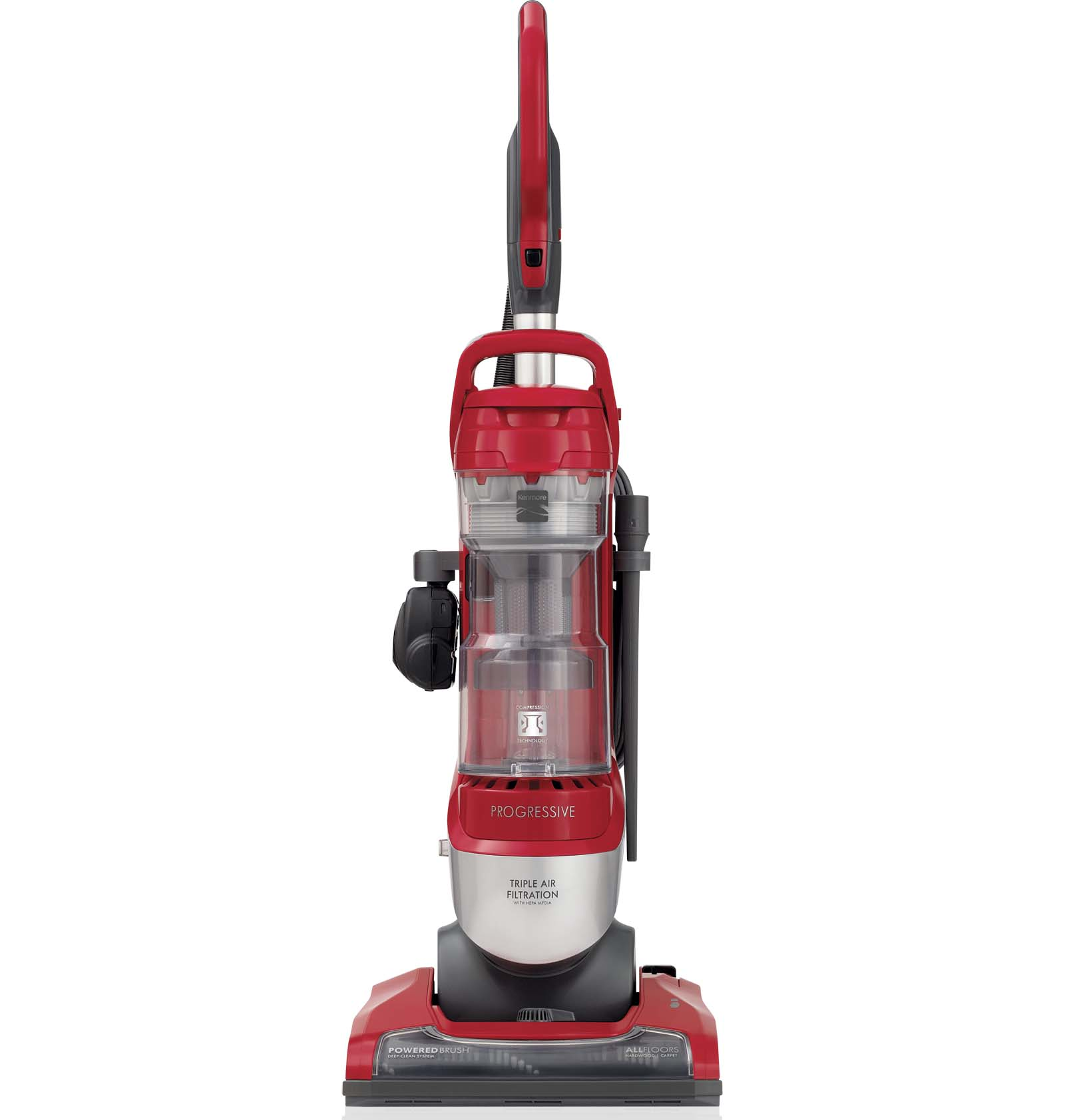 Image of Kenmore 10135 Pet-Friendly Progressive Bagless Upright Vacuum - Silver/Red
