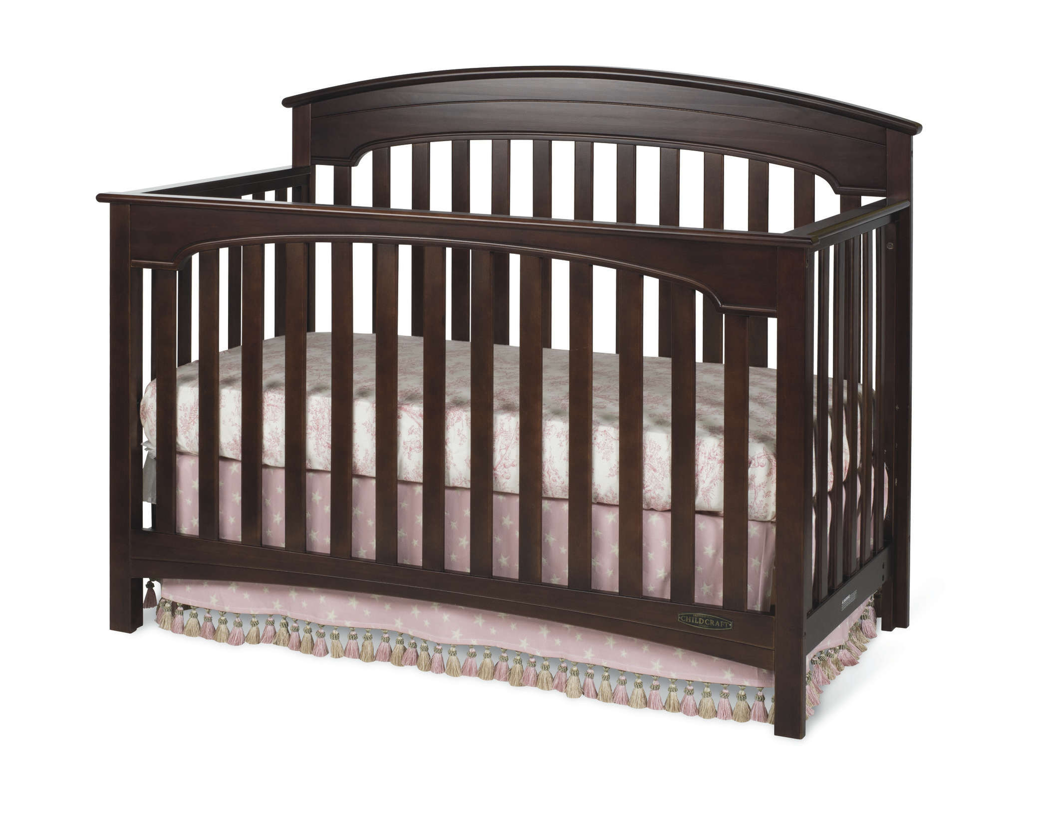 Child Craft Child Craft Stanford 4-in-1 Convertible Crib, Select Cherry