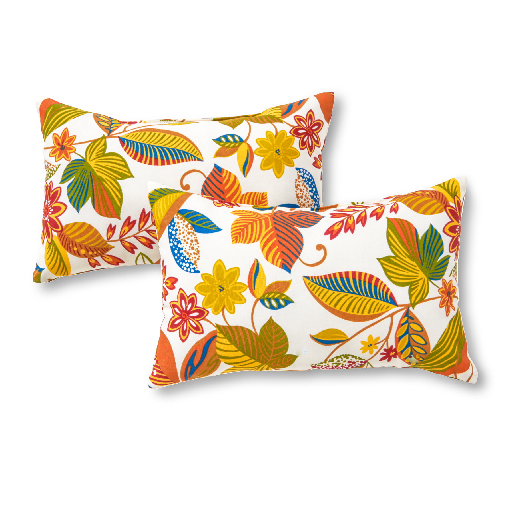 Greendale Home Fashions Rectangle Outdoor Accent Pillows Set Of Two Esprit Multi