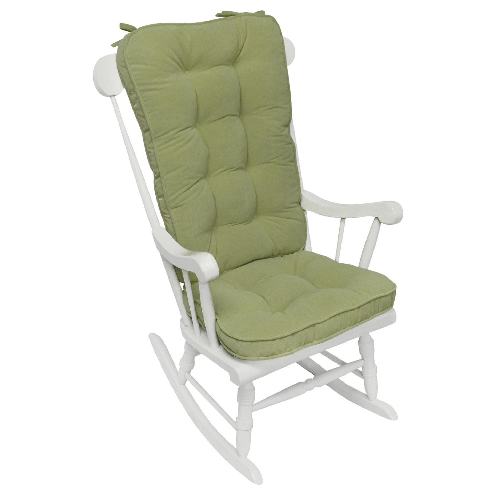 Greendale Home Fashions Hyatt Jumbo Rocking Chair Cushion Set Moss Home