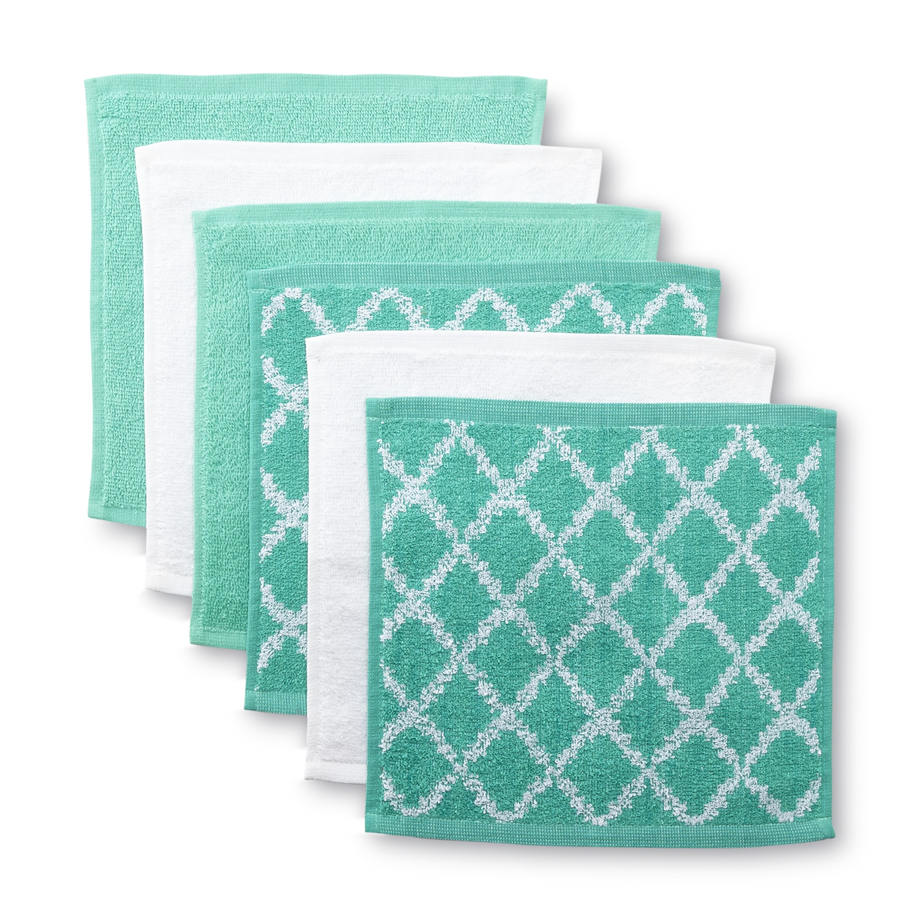 Essential Home 6-Pack Washcloths - Moroccan Print