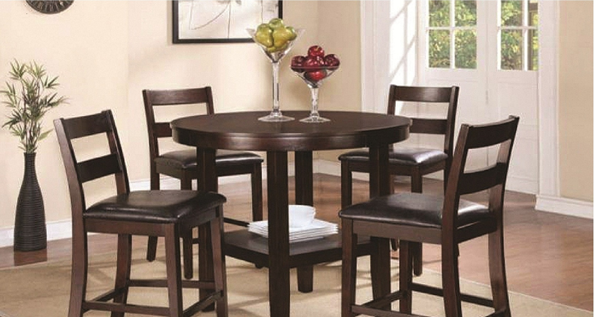 19001-trd4 - 5 piece counter high dining set (dining table and 4